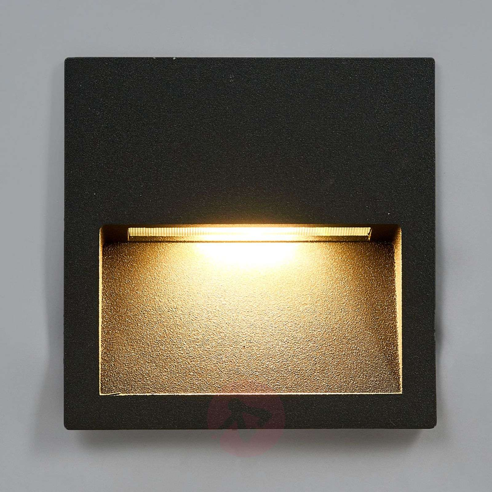 Square LED recessed wall light Loya for outdoors-9969038-02