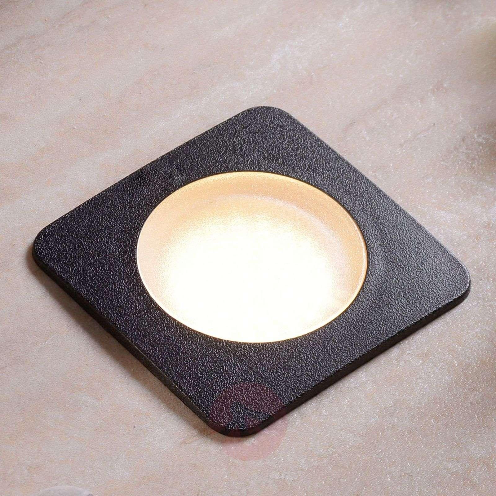 Square recessed floor light CECI 120-SQ blk.-3538039-01