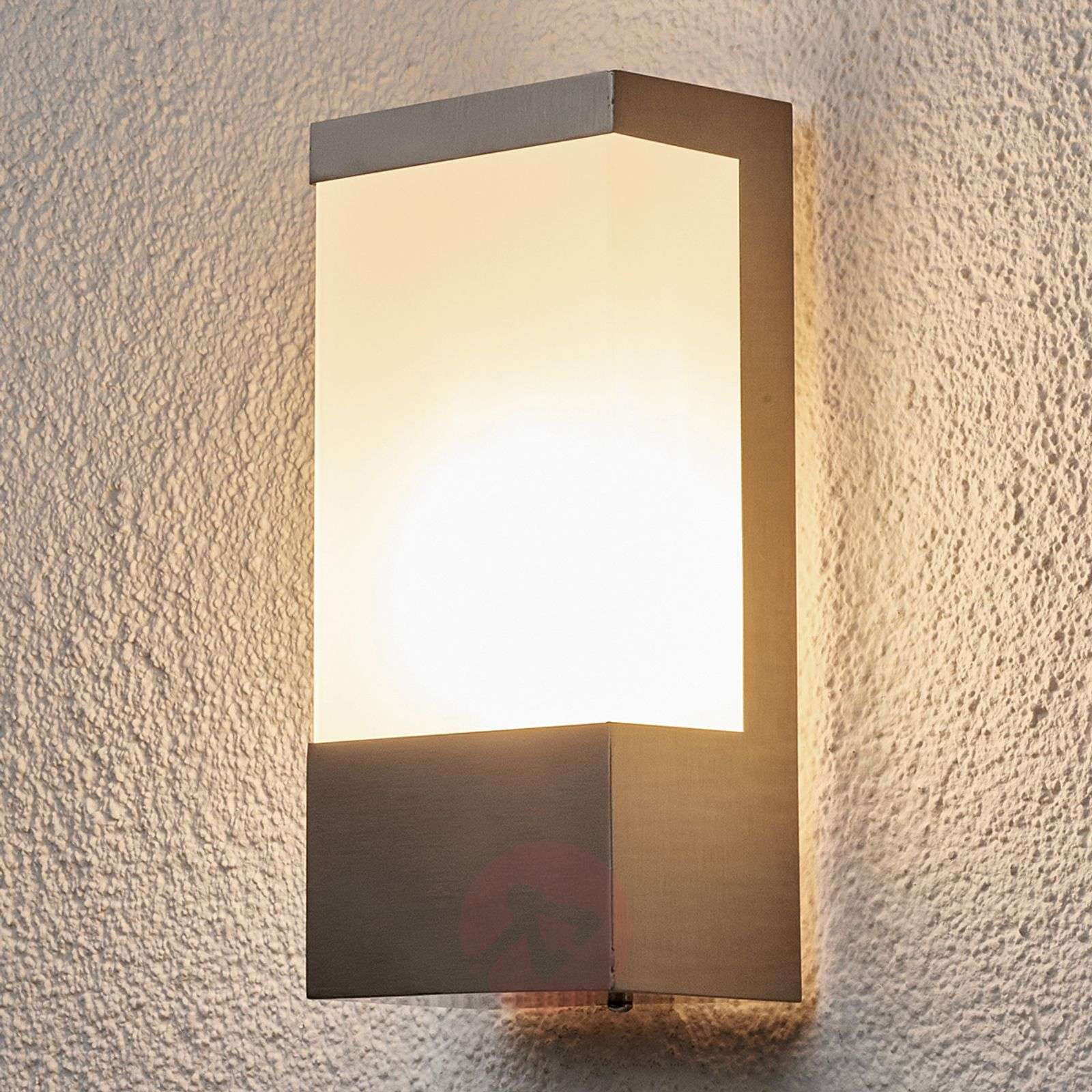 Square stainless steel outdoor wall light Kirana-9972006-01