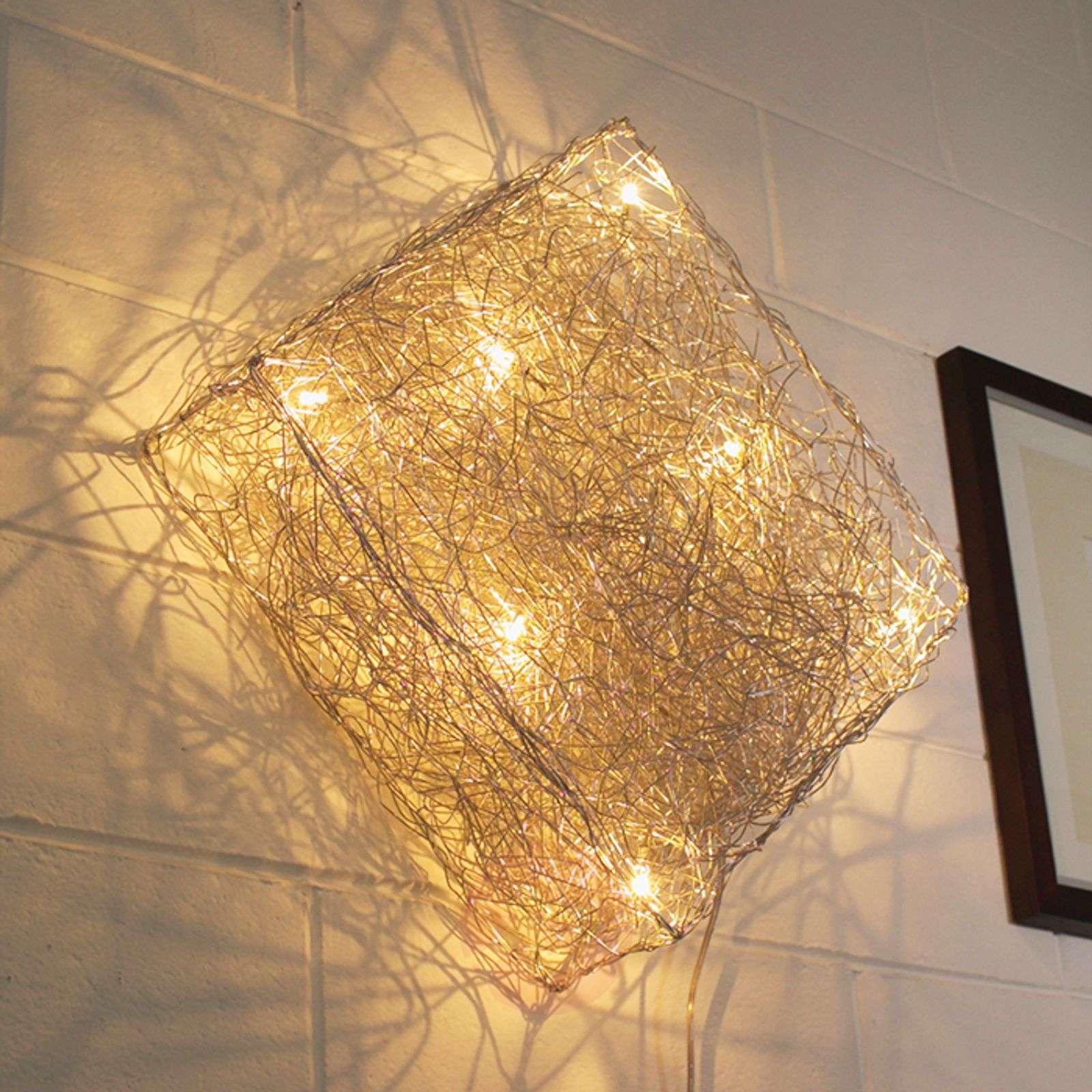 Wall Light Quadro: Square Wall Light Quadro 48 X 48 Cm