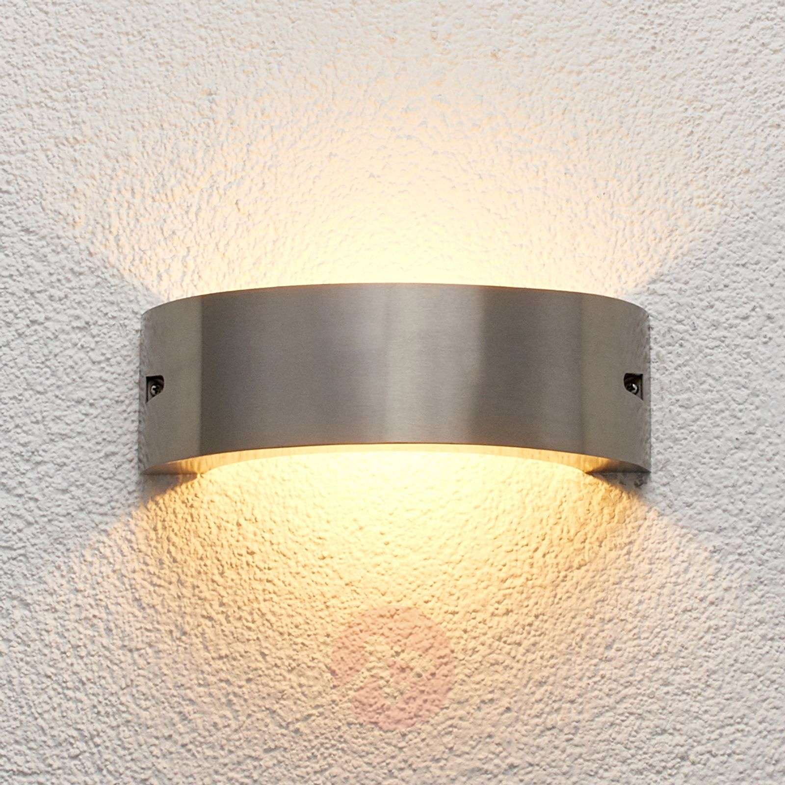 Stainless steel LED outdoor wall light Marisa | Lights.ie