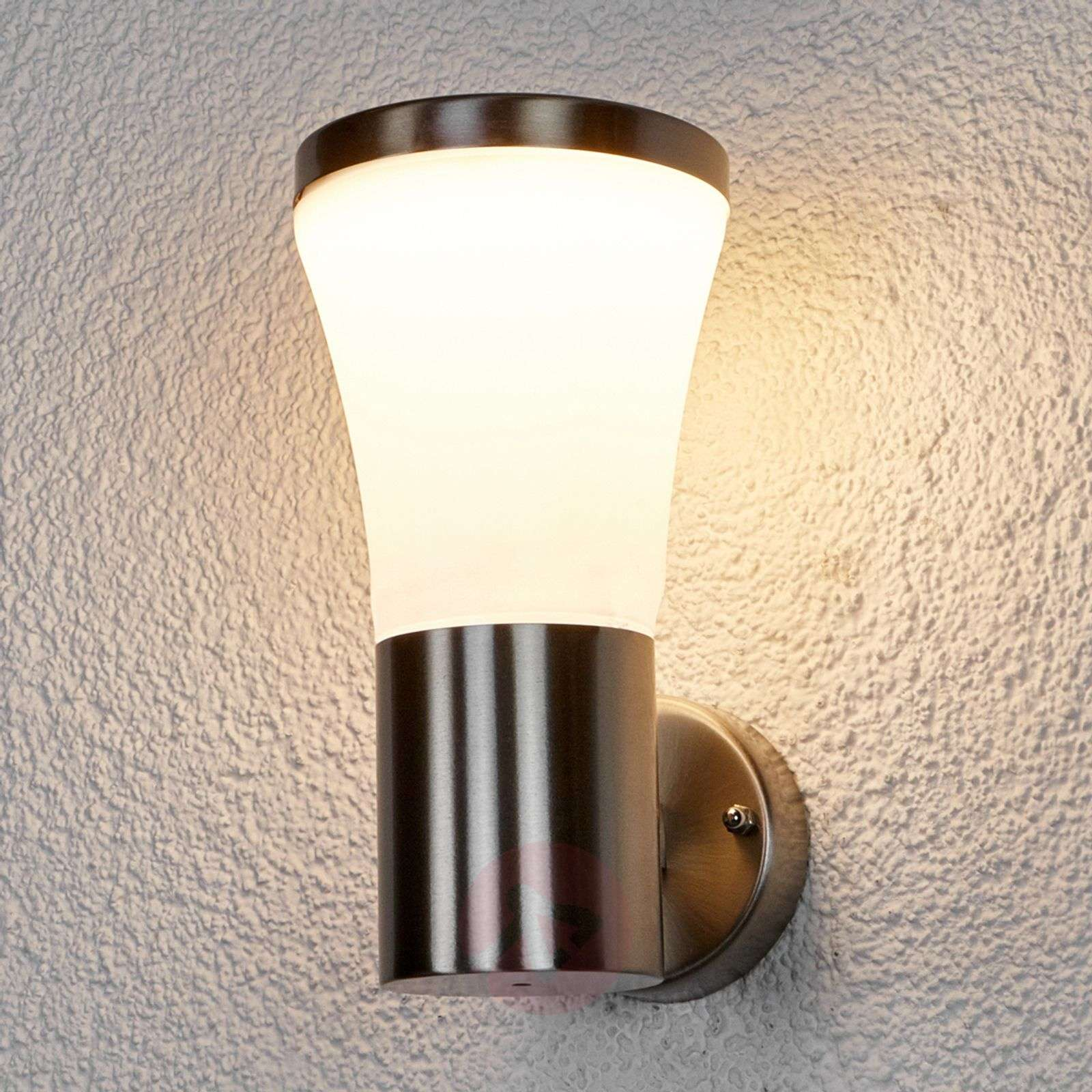 Stainless steel outdoor wall light Sumea with LEDs-9647068-01