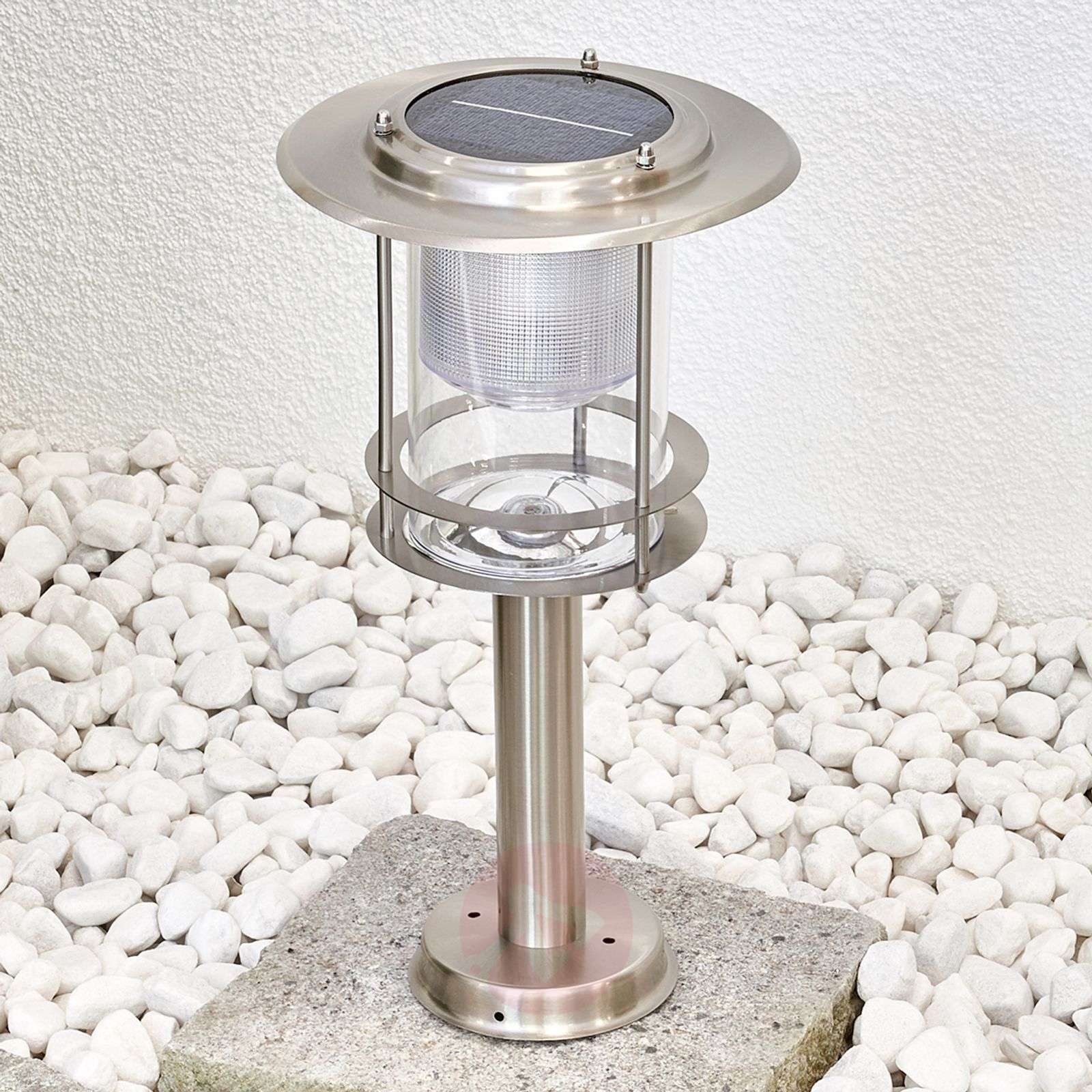Stainless steel, solar LED pillar lamp Liss-9972002-01