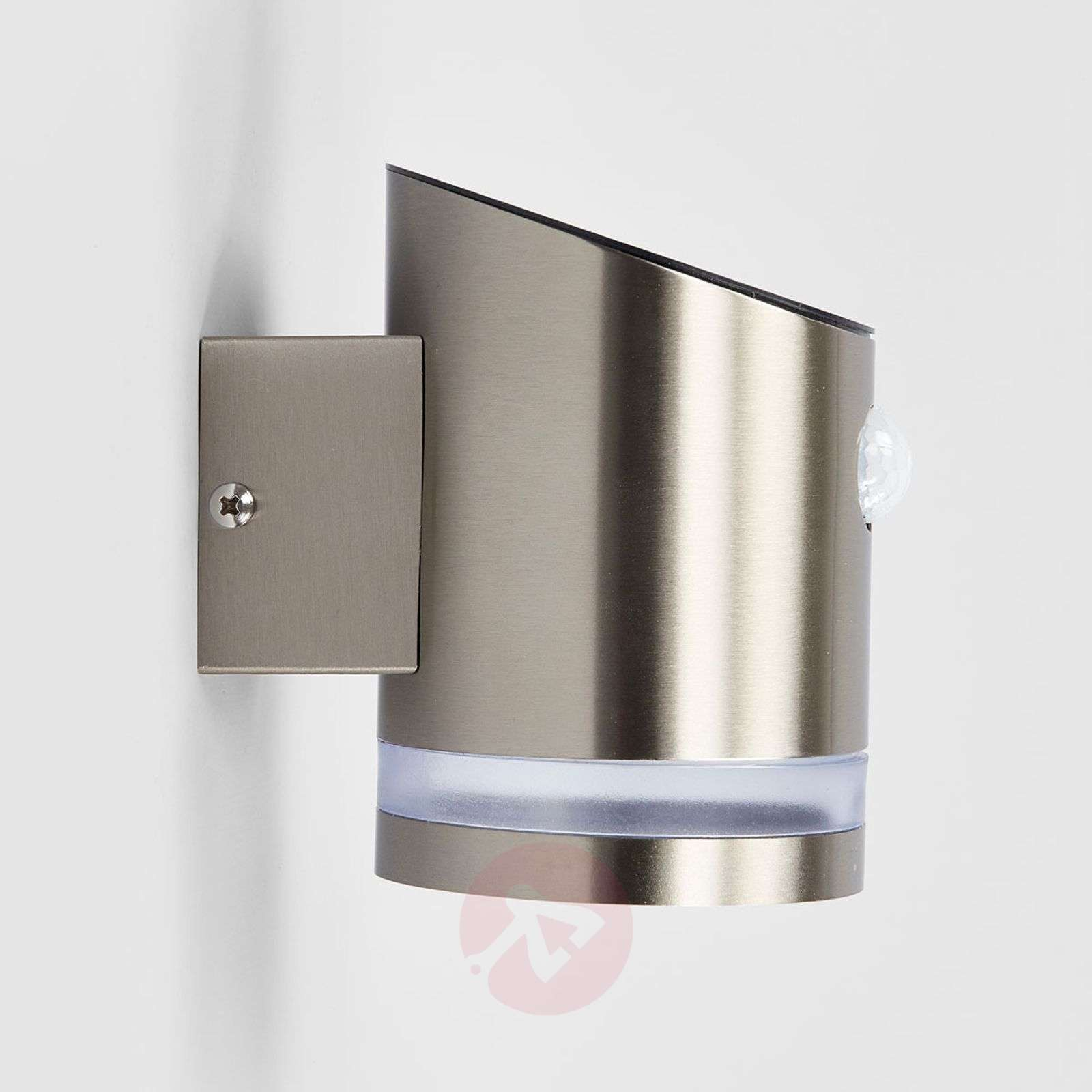 Stainless steel solar wall lamp Romina with LEDs-9945188-02