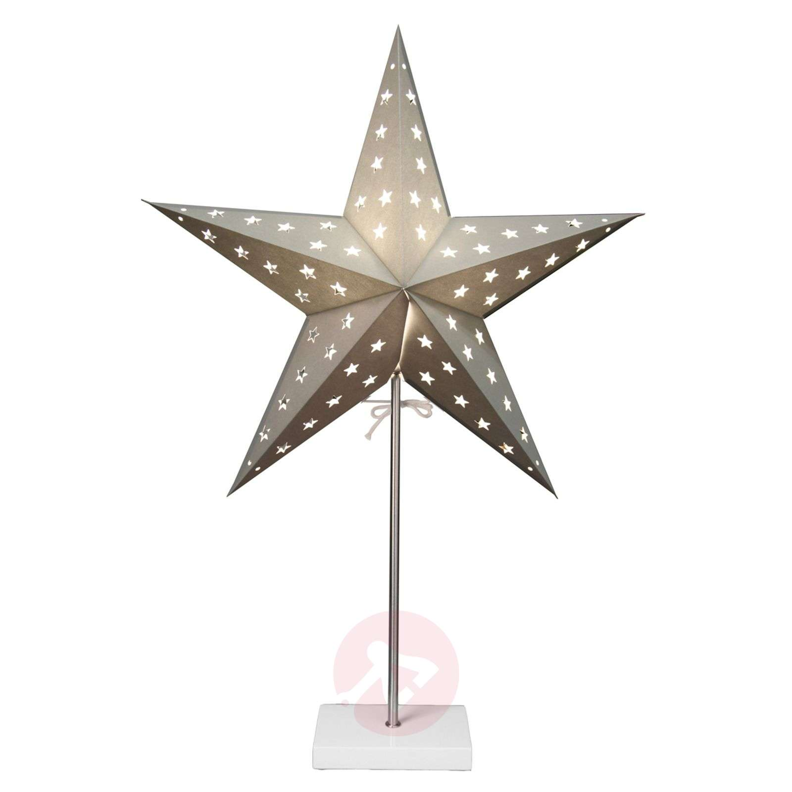 Standing light Star in silver and white-1522872-01