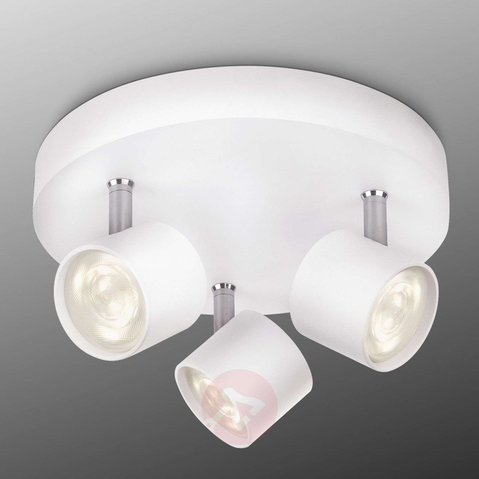 Star led ceiling light three bulbs white round lights star led ceiling light three bulbs white round 7531425 01 aloadofball Image collections