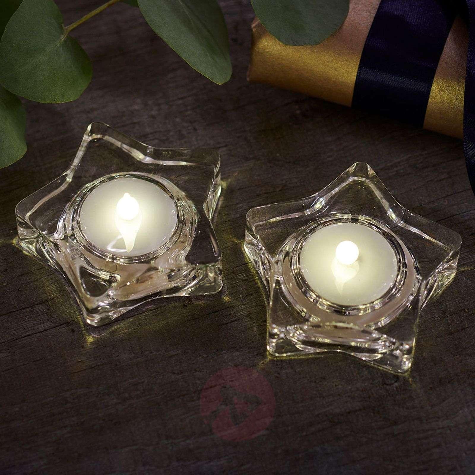 Star-shaped LED tea light Lea Star-8577267X-01