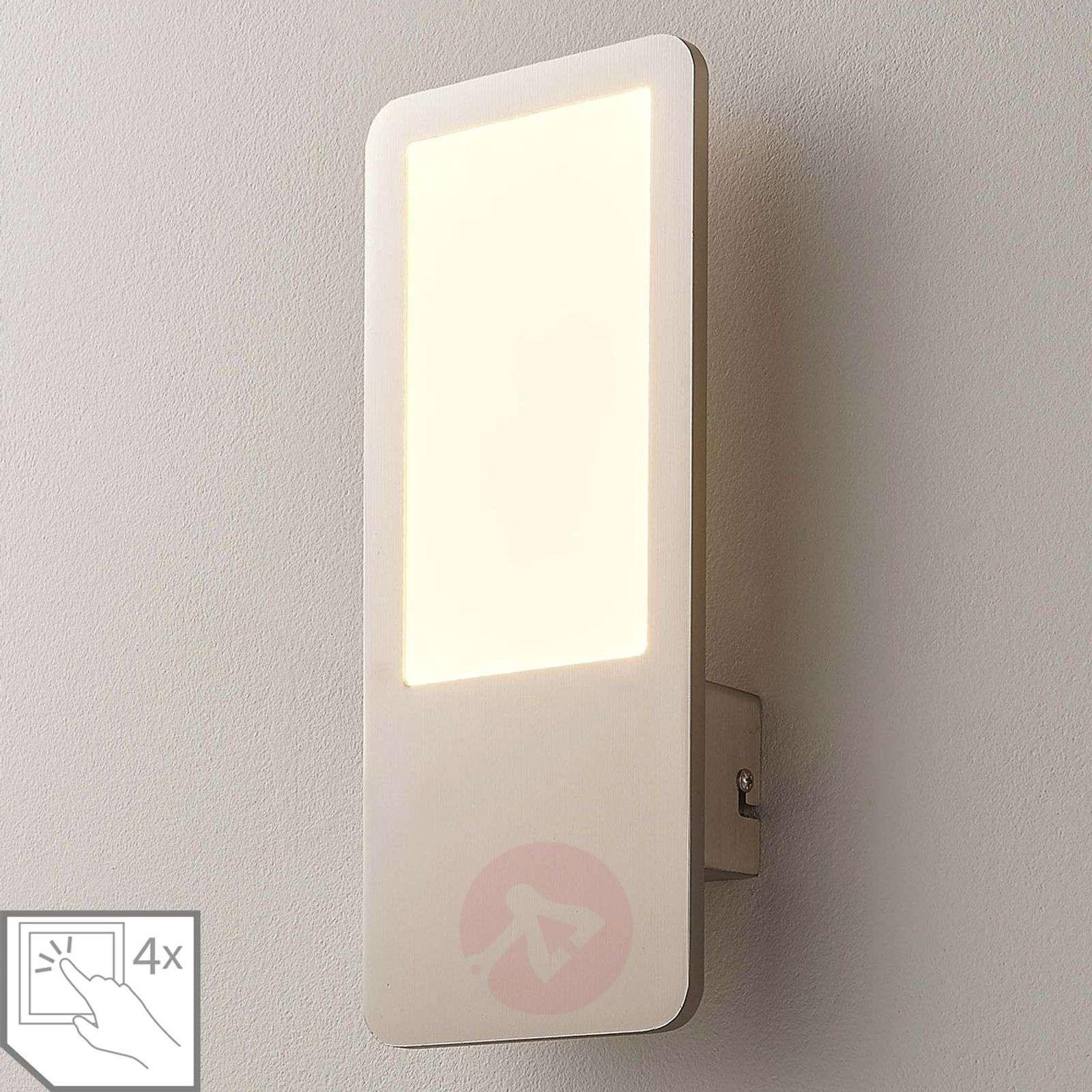 Stephanie dimmable LED wall lamp in matt nickel-9621417-01