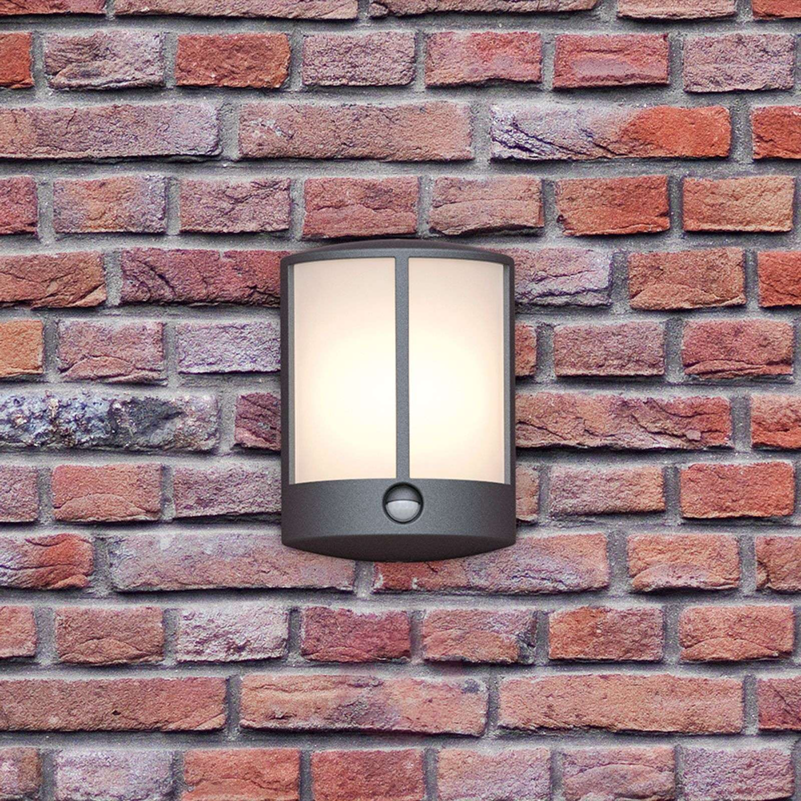 Stock LED outdoor wall light with sensor-7531806-01
