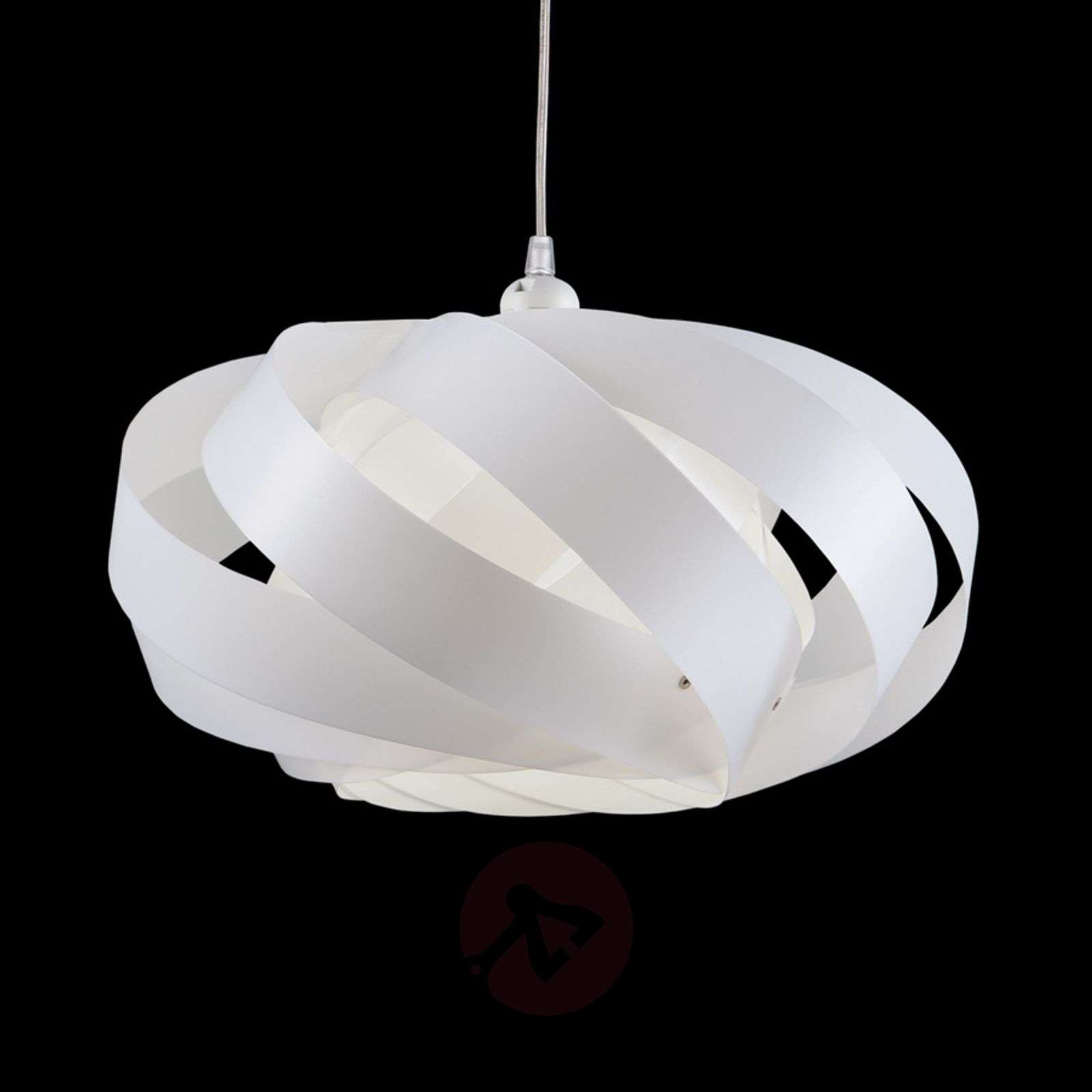 Striped hanging light Mini Nest, white-1056034-01