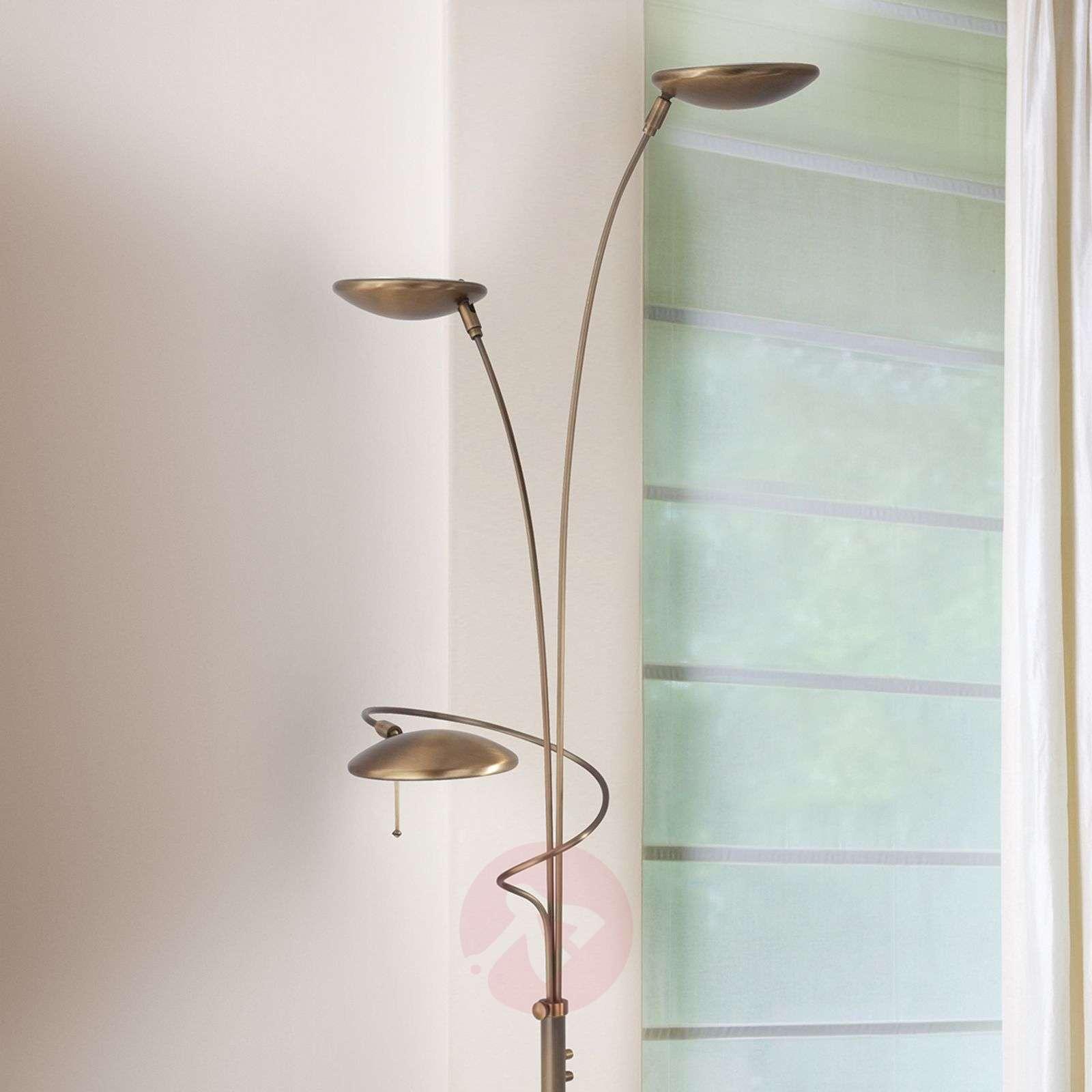 Stylish LED floor lamp Diamond in Bronze-8509703-01