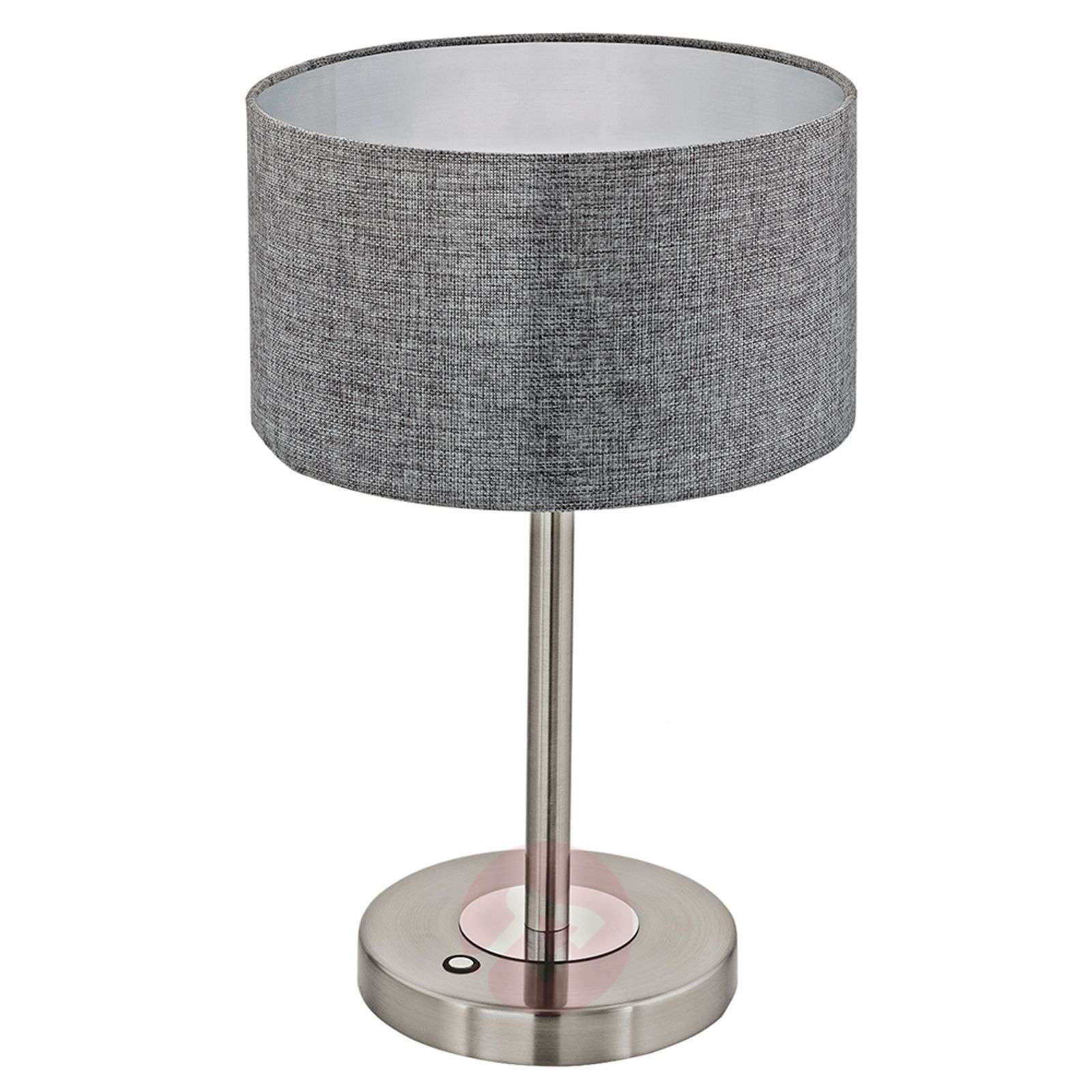 Stylish Romano LED table lamp with fabric shade