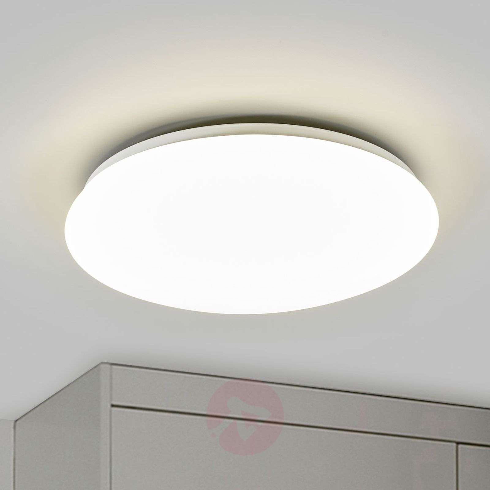 Suede LED Ceiling Light White-7531490-01