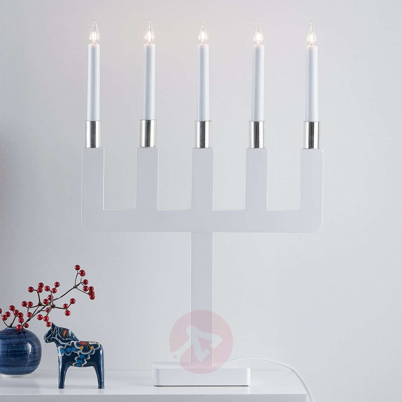 Sundstorp timelessly attractive candleholder white-6507494-01
