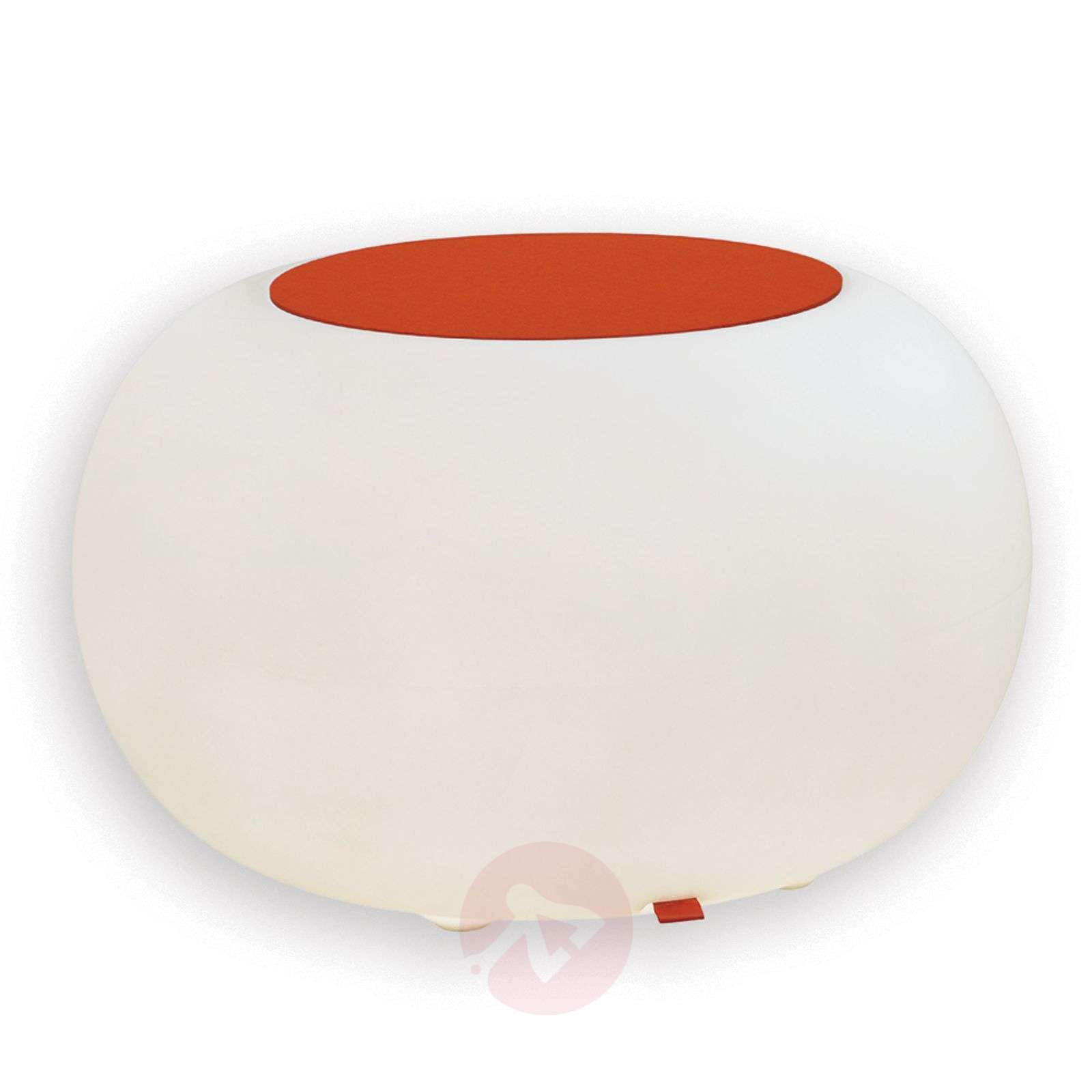 Table BUBBLE Indoor LED white light + orange felt-6537053-01