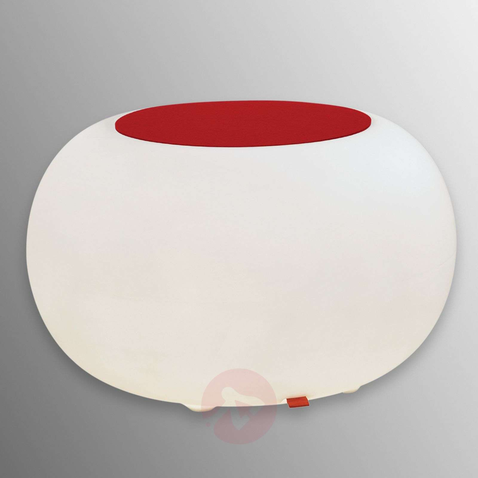 Table BUBBLE Indoor LED white light + red felt-6537054-01