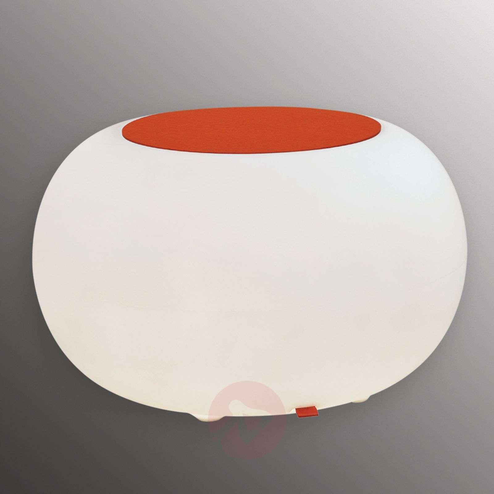 Table BUBBLE Indoor RGB LED + orange felt-6537058-01