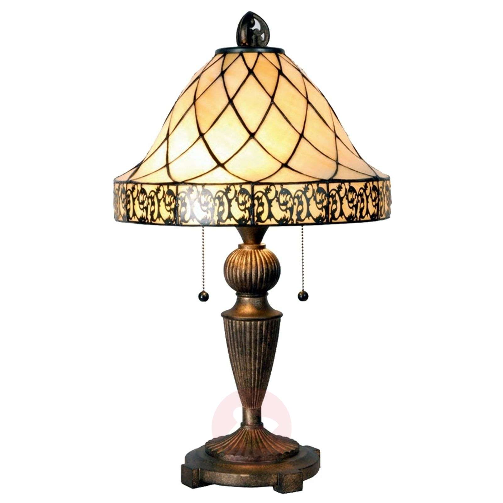 Table lamp Diamond in the Tiffany style 62cm-6064045-01