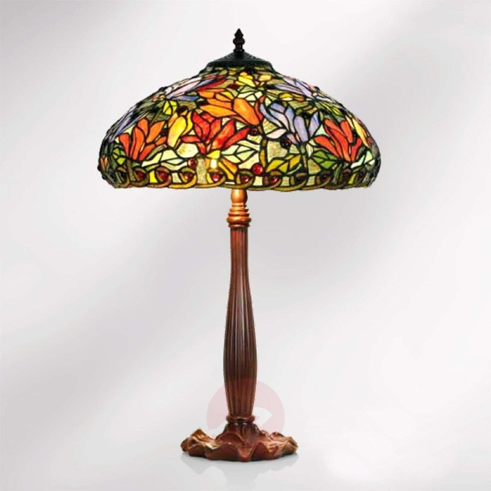 Table lamp Elaine in a floral Tiffany style, 64 cm-1032253-01