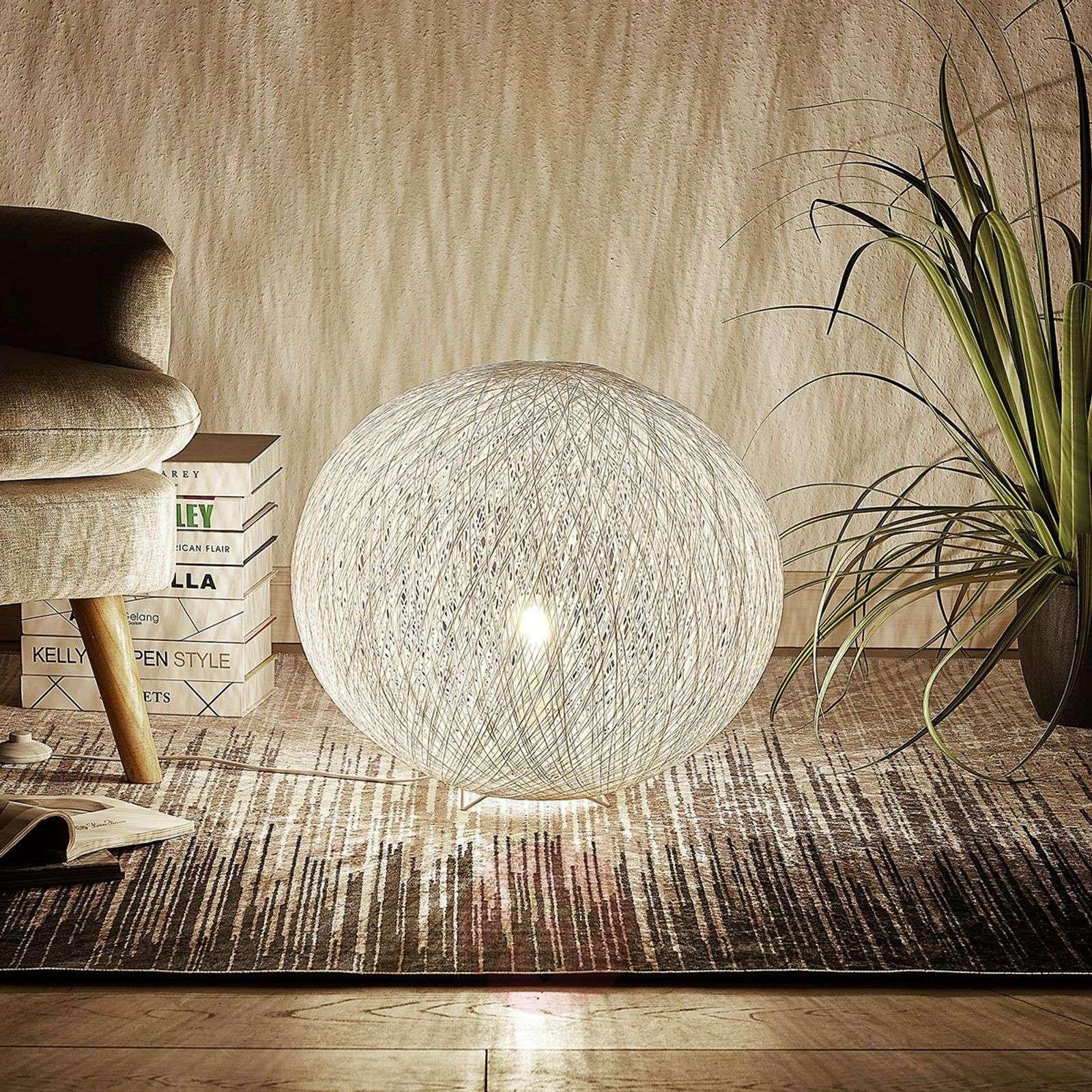 Table lamp Julio, sphere, white, woven paper-9624283-02