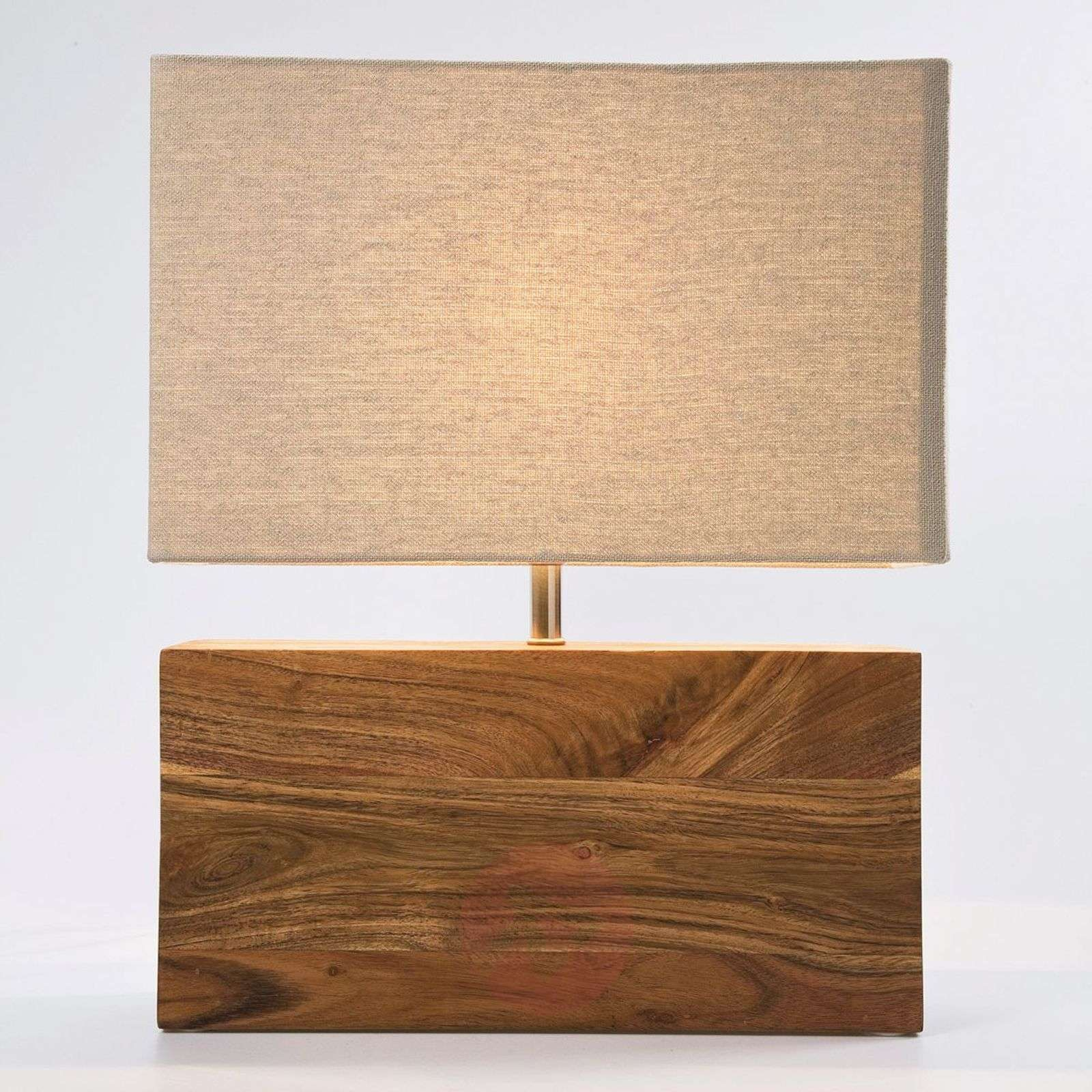 Table lamp RECTANGULAR WOOD with wooden base-5517187-01
