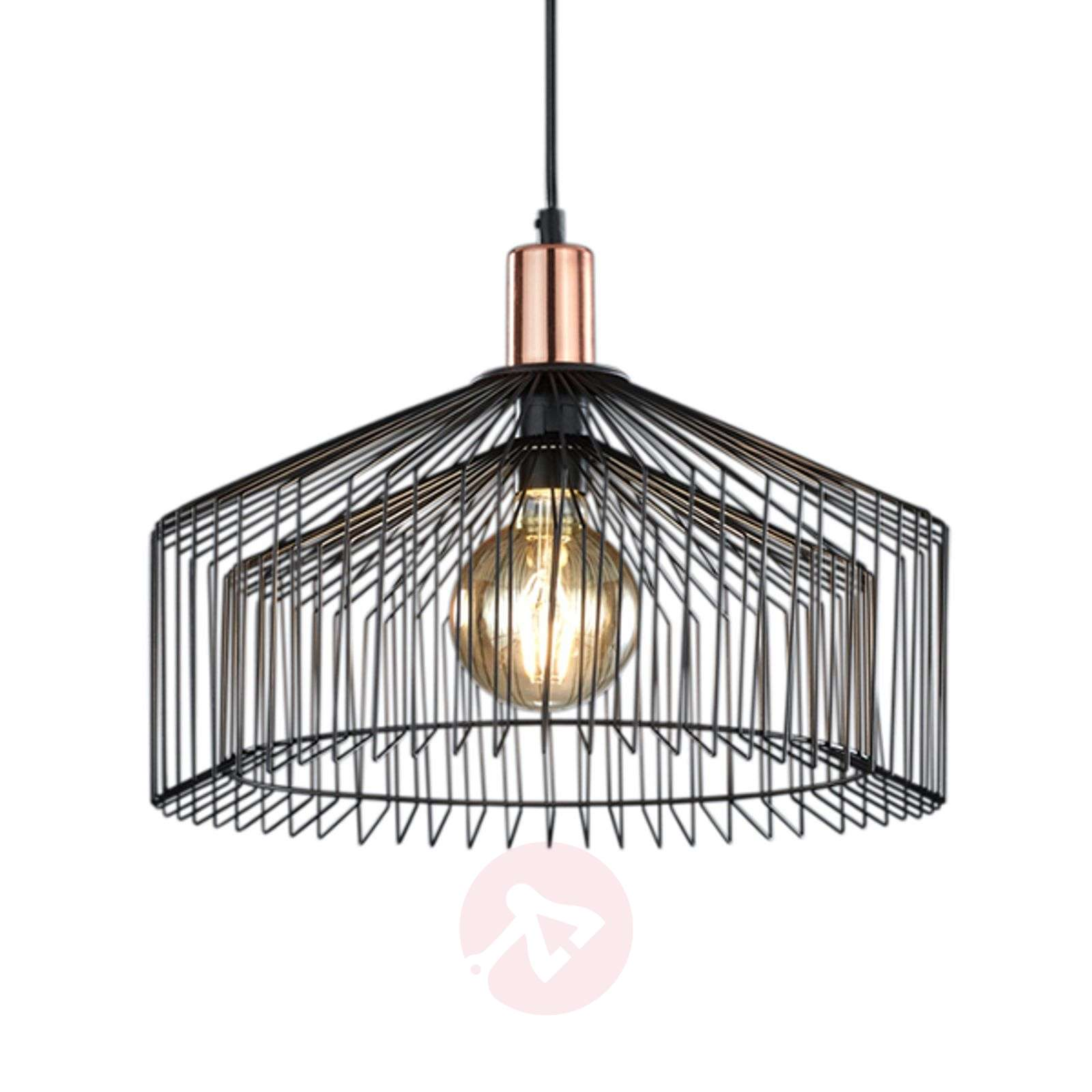 light cage hanging lamp guard shade pendant industrial metal urban island close lighting products bare open for retro wire