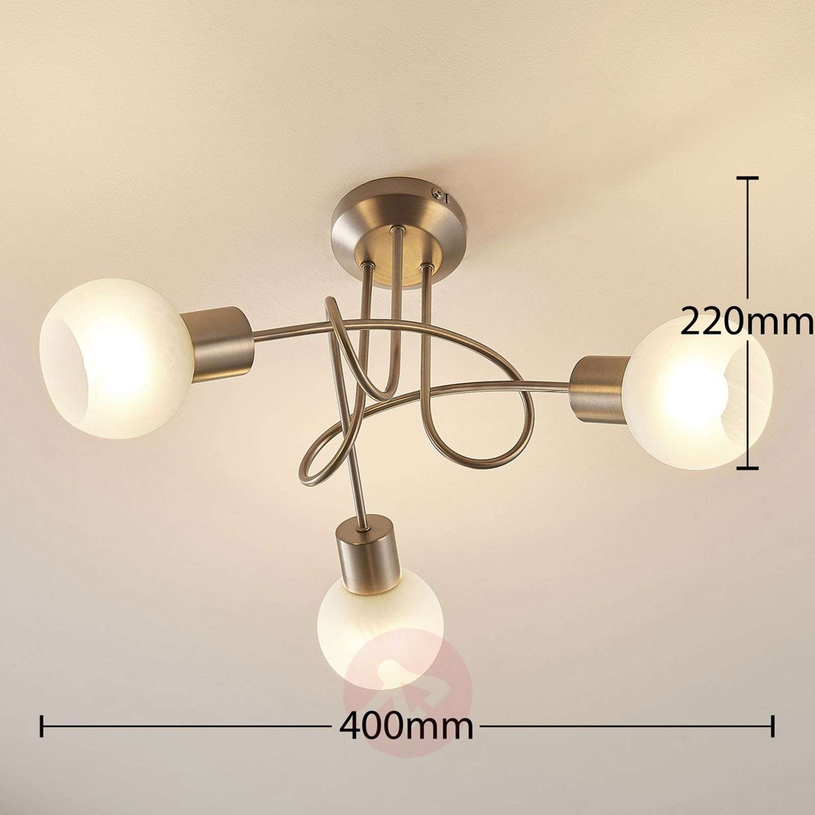 Tanos LED ceiling lamp with 3 Easydim bulbs-9621566-02