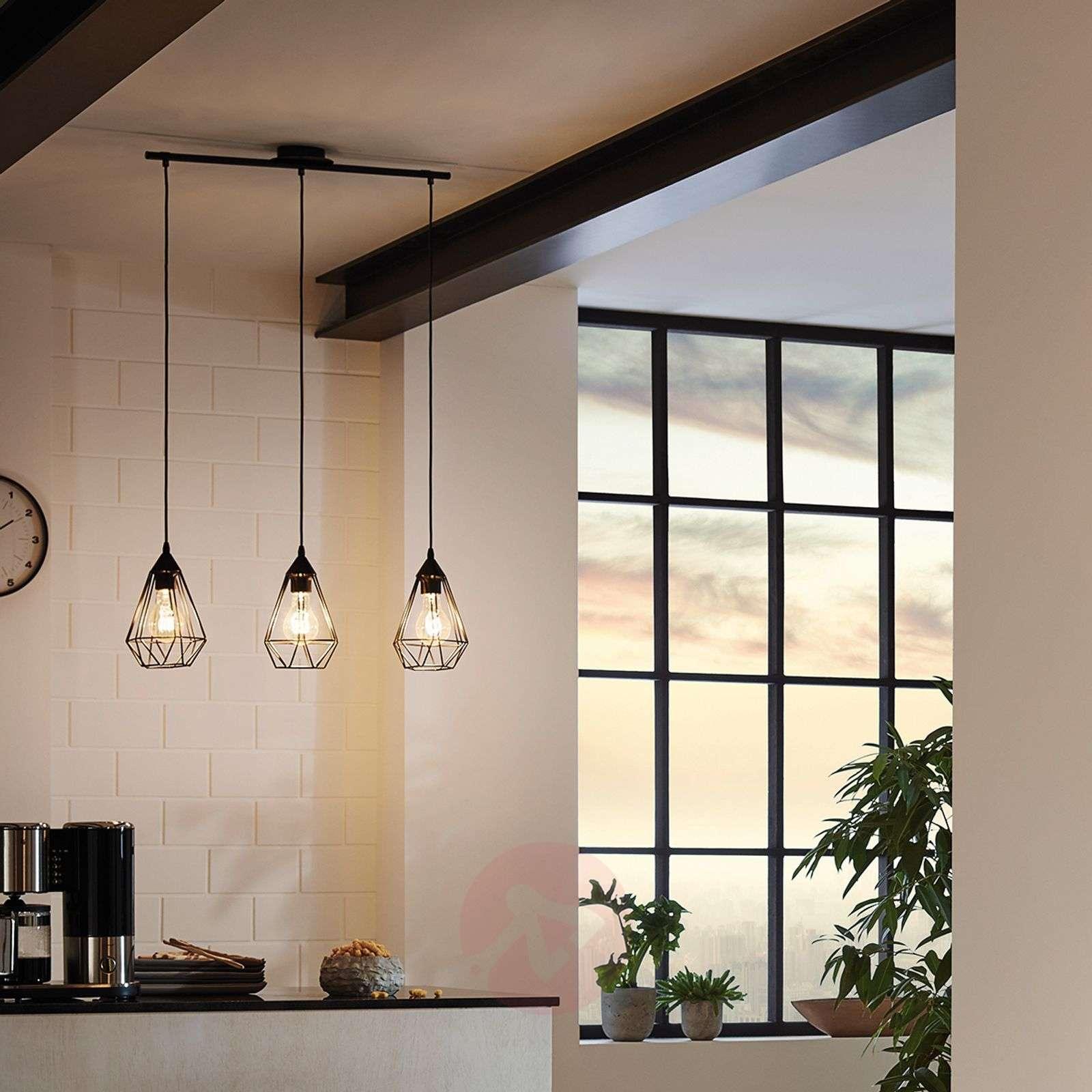 Tarbes 3-bulb hanging light in a vintage design-3031861-01