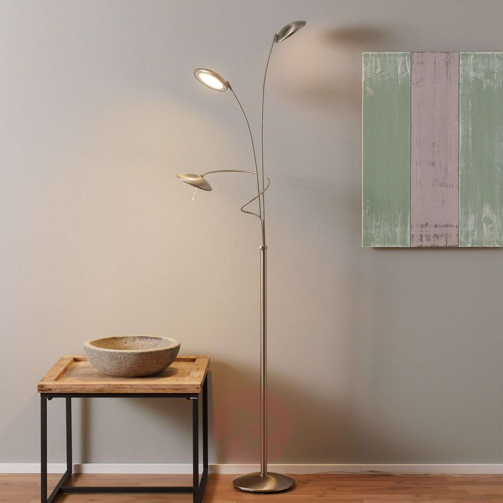 Three-bulb floor lamp Diamond with dimmer-8509725-01