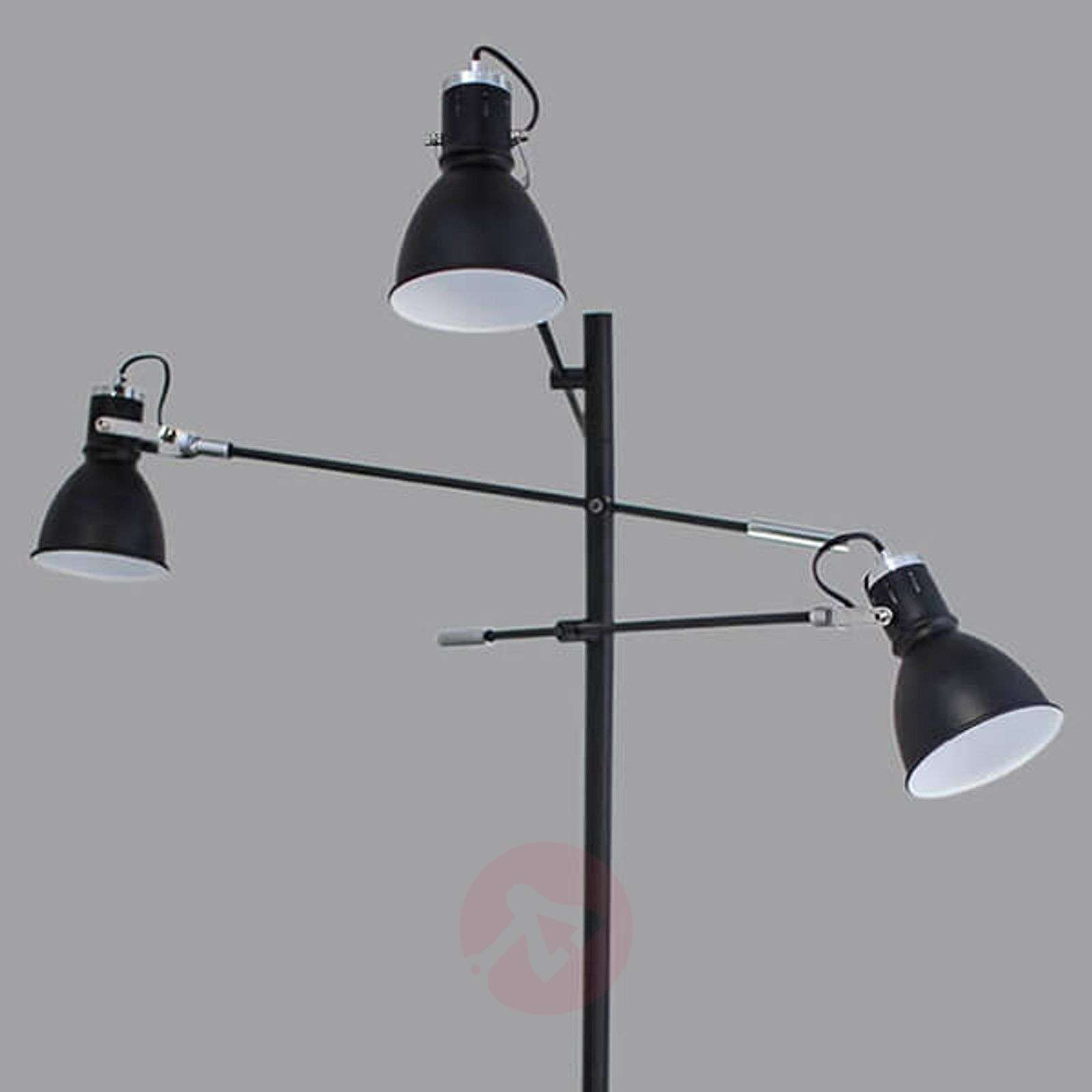Three bulb floor lamp pigalle in black lights three bulb floor lamp pigalle in black 1563001 01 aloadofball Choice Image