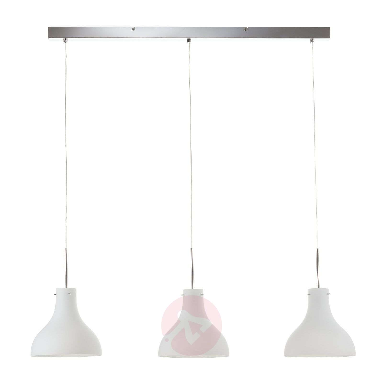Three-bulb pendant light Oslo made of glass-8507864-01
