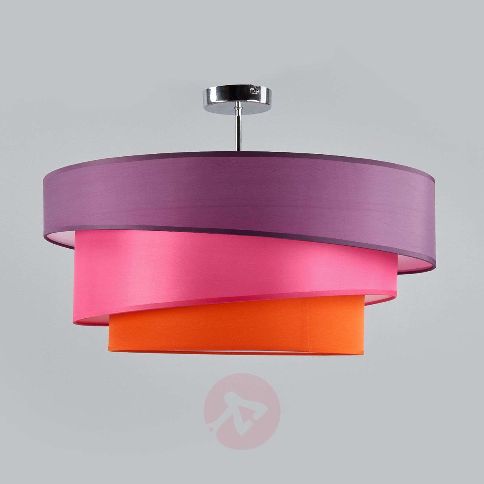 Three-coloured ceiling light Melia, violet and pink-9639035-01