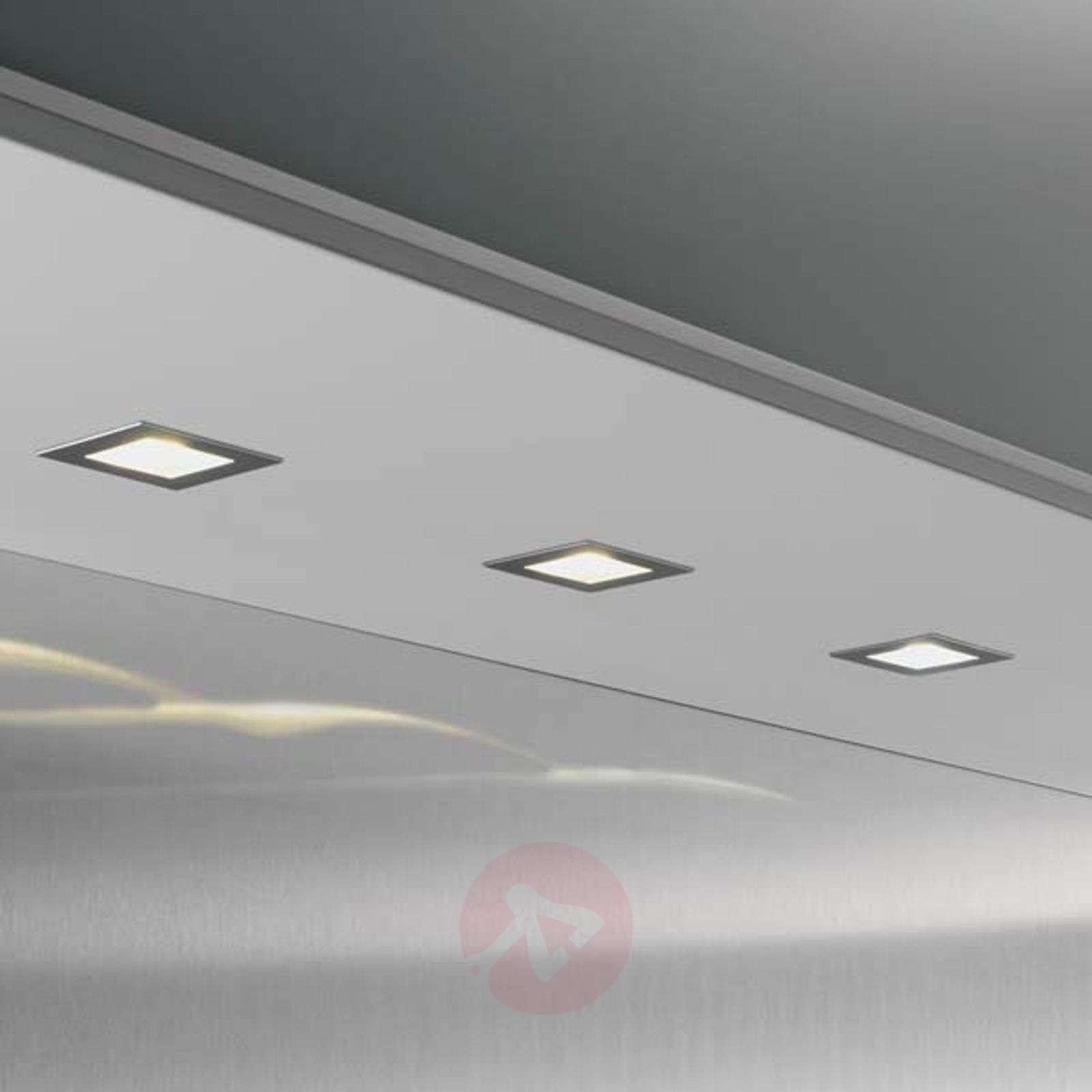 three cubic 68 square led recessed lights 2700 k lights ie