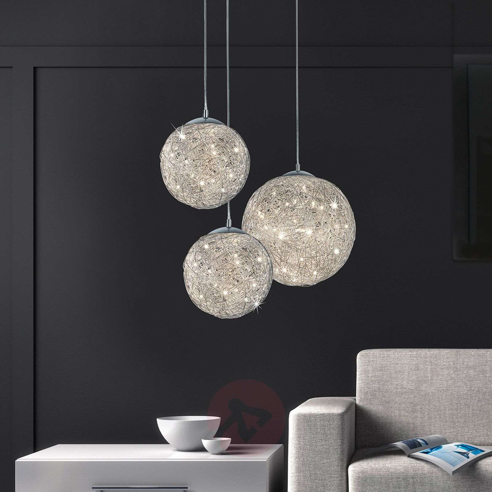 Thunder breath-taking LED pendant light Ø 40 cm-9004754-01