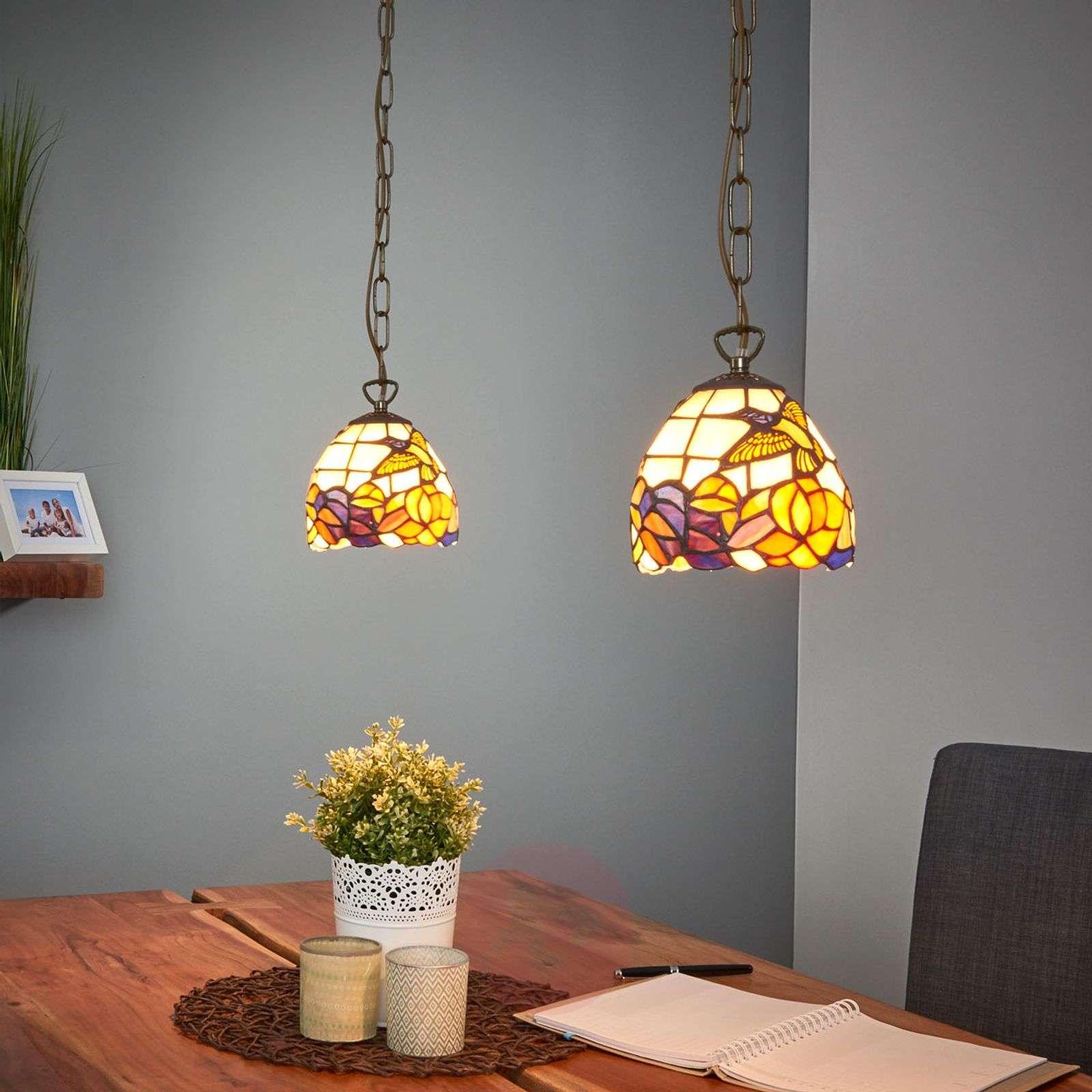 Tiffany-style hanging light COLIBRI-1032064-01