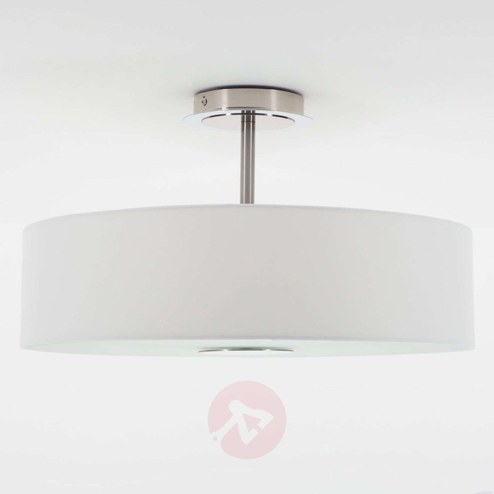 Timeless ceiling light Josia made of white fabric-9620048-01