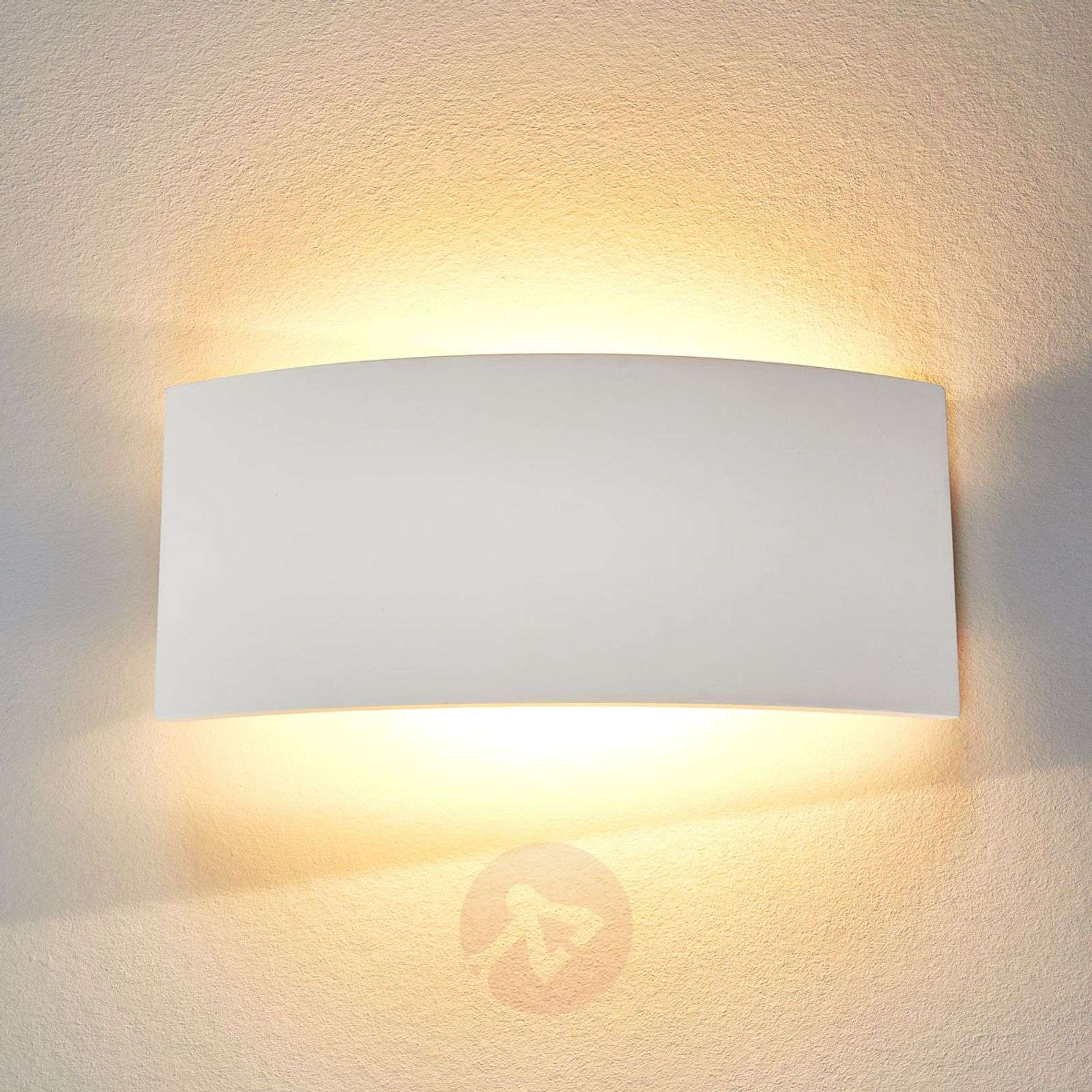 Timeless wall light Naike made of plaster-9613046-01