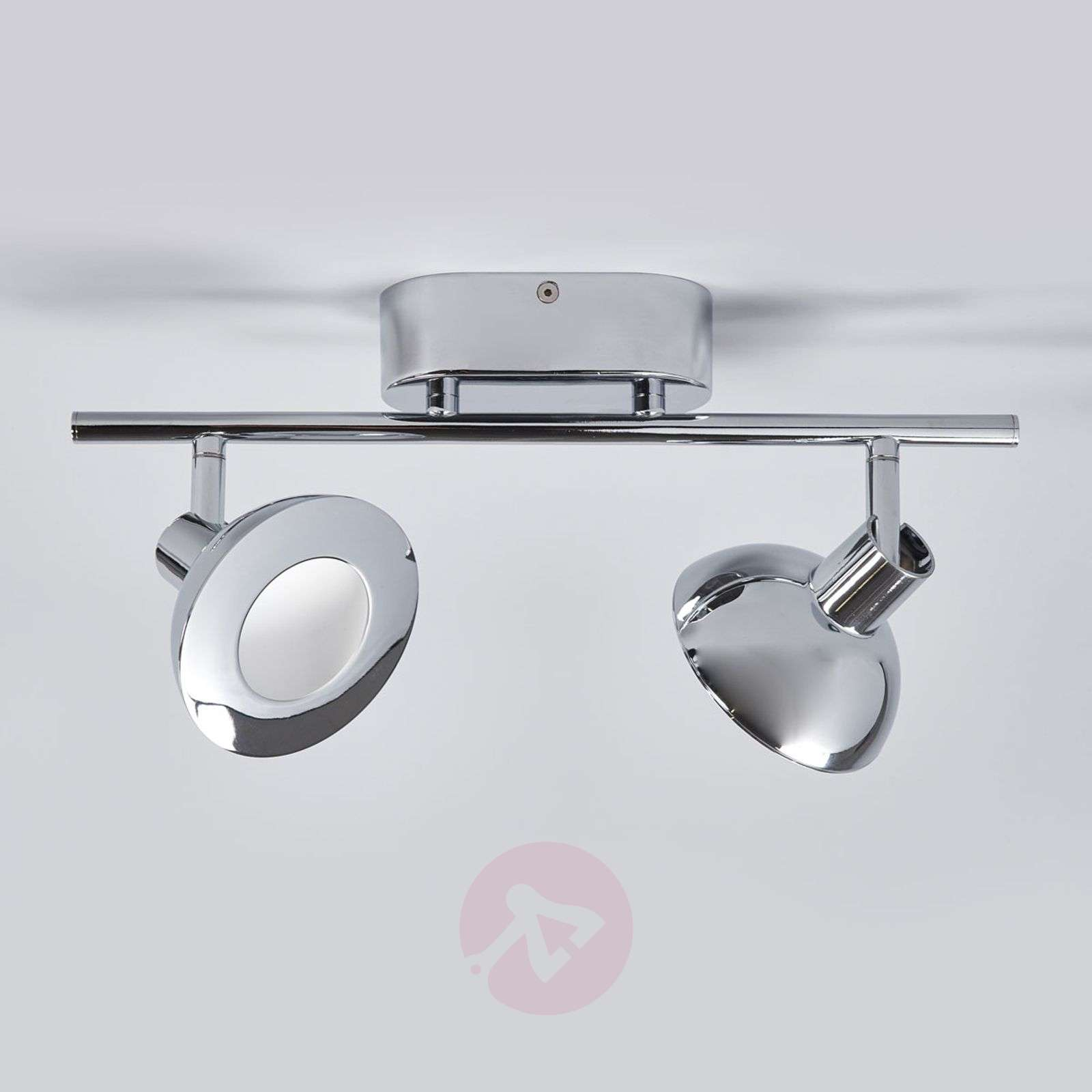Titania a chrome-plated LED spotlight,two-bulb-3057030-01
