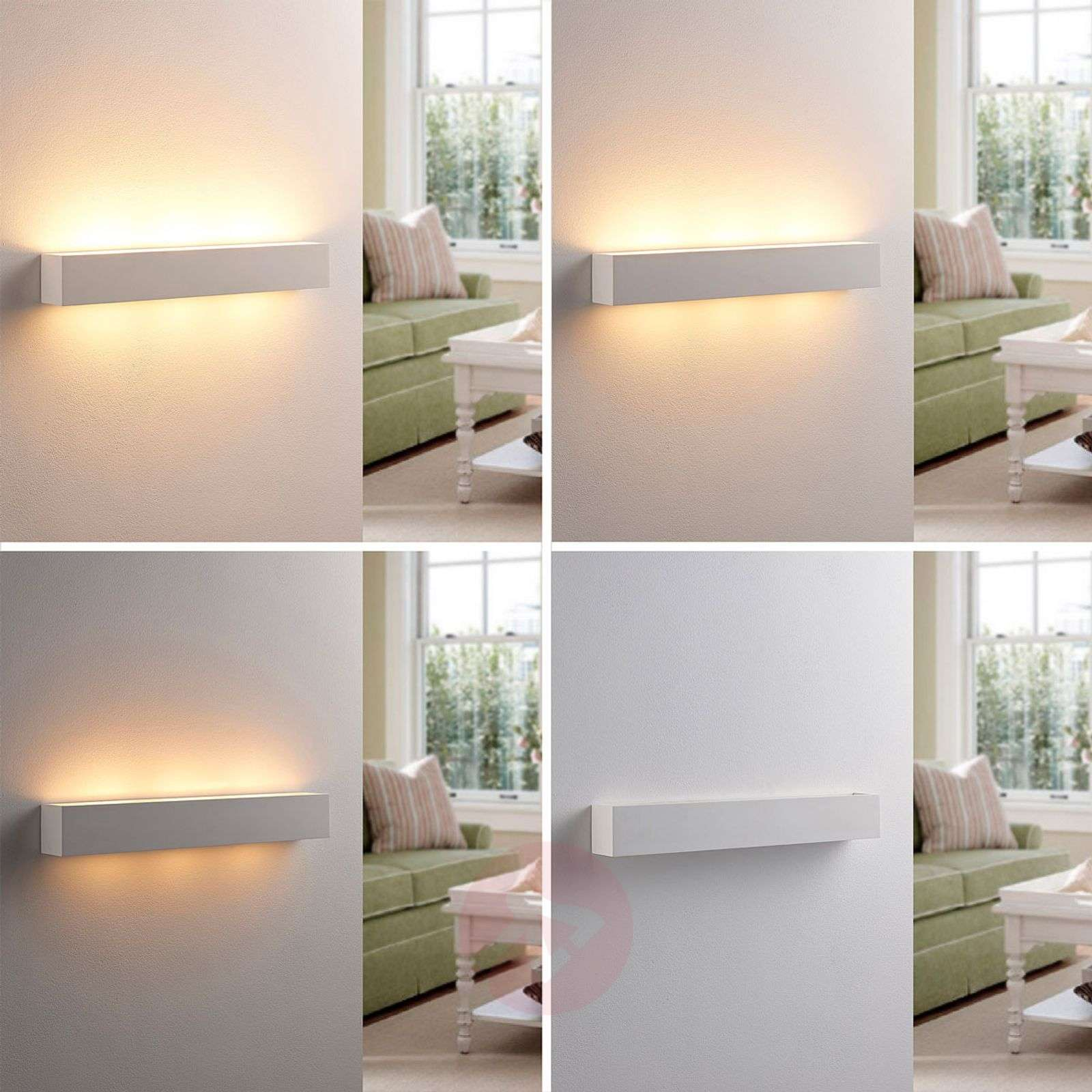 Tjada long LED wall lamp made from plaster-9621338-02