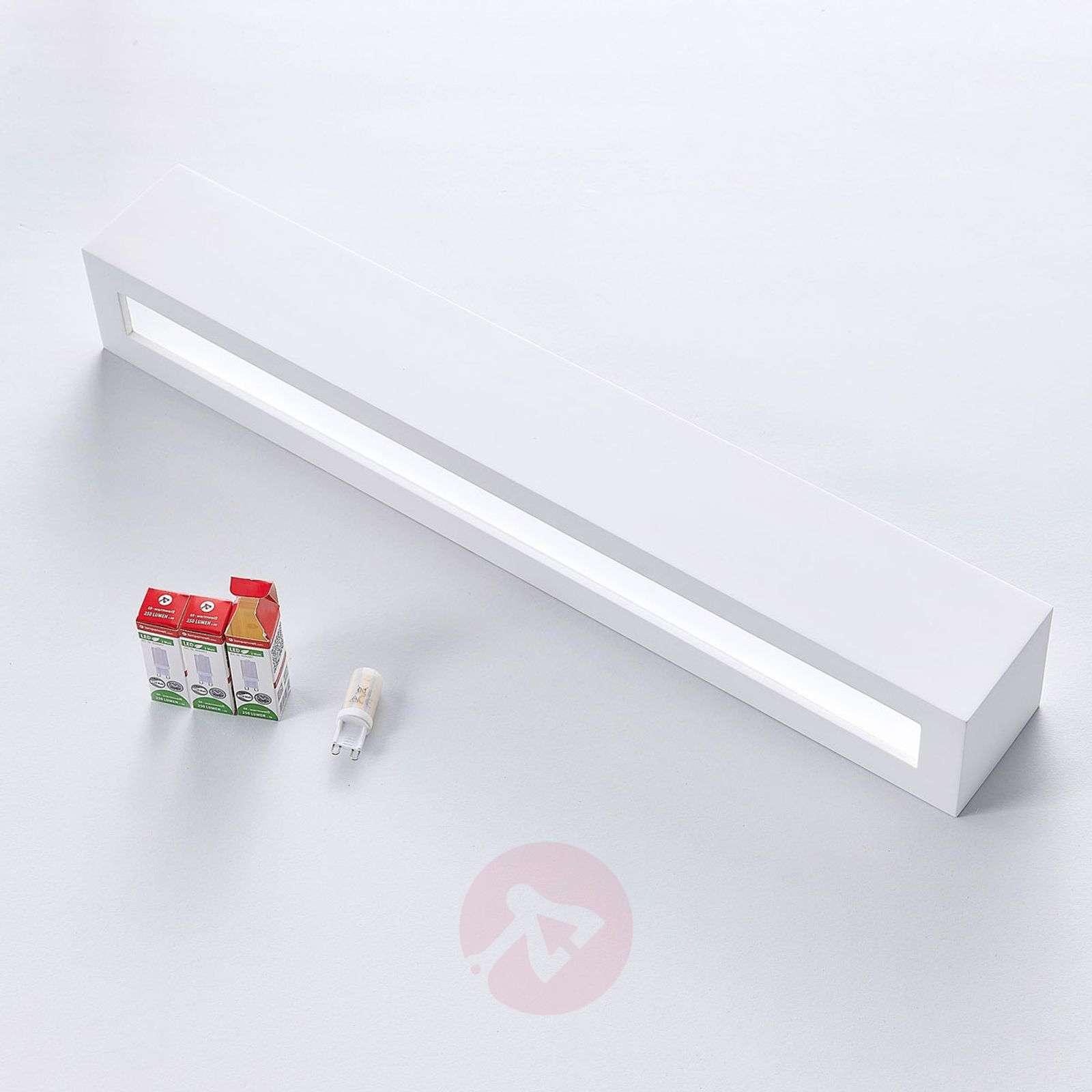 Tjada long LED wall lamp made from plaster-9621338-02