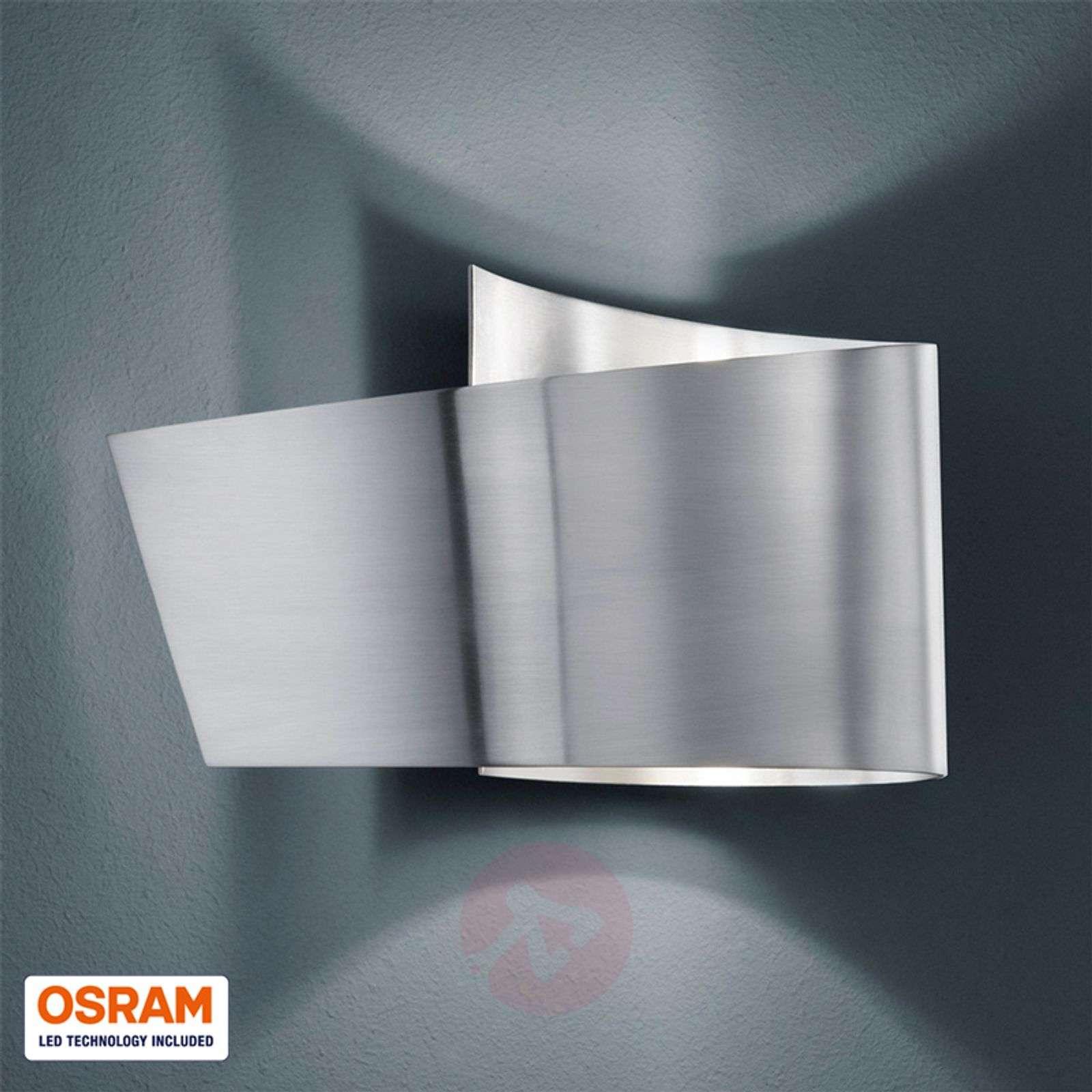 Tobi wall light with IP44, matt nickel-9004599-02