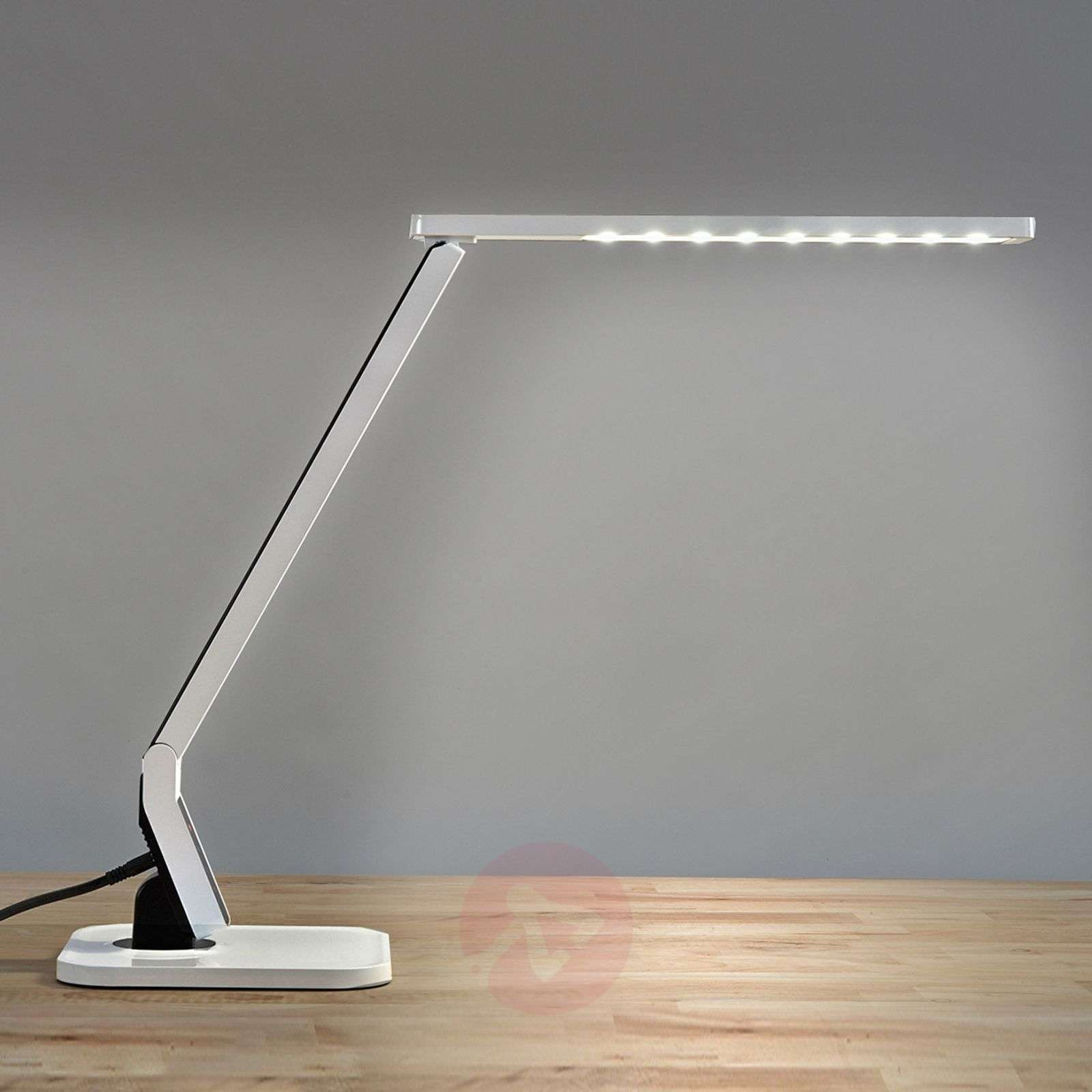 Top modern LED desk table lamp Eleni, white-9950190-02