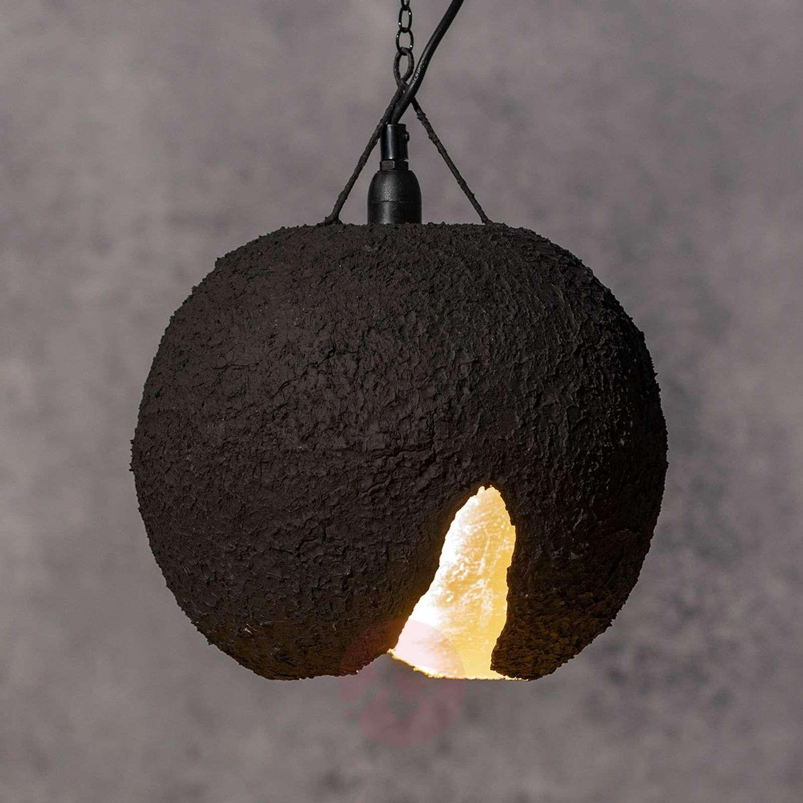 Torn Eva pendant light, black-gold-9005093-01