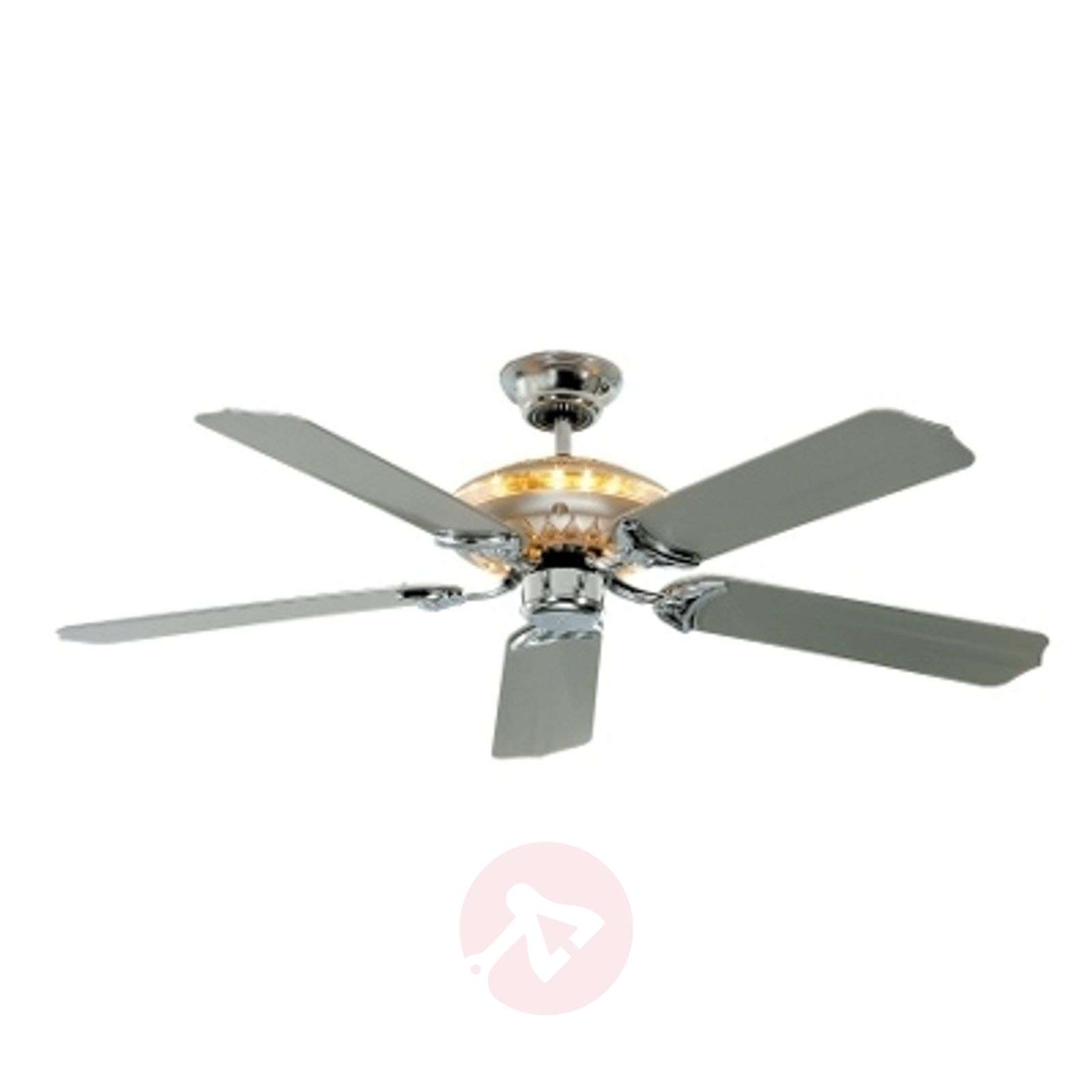 Tornado ceiling fan silver grey