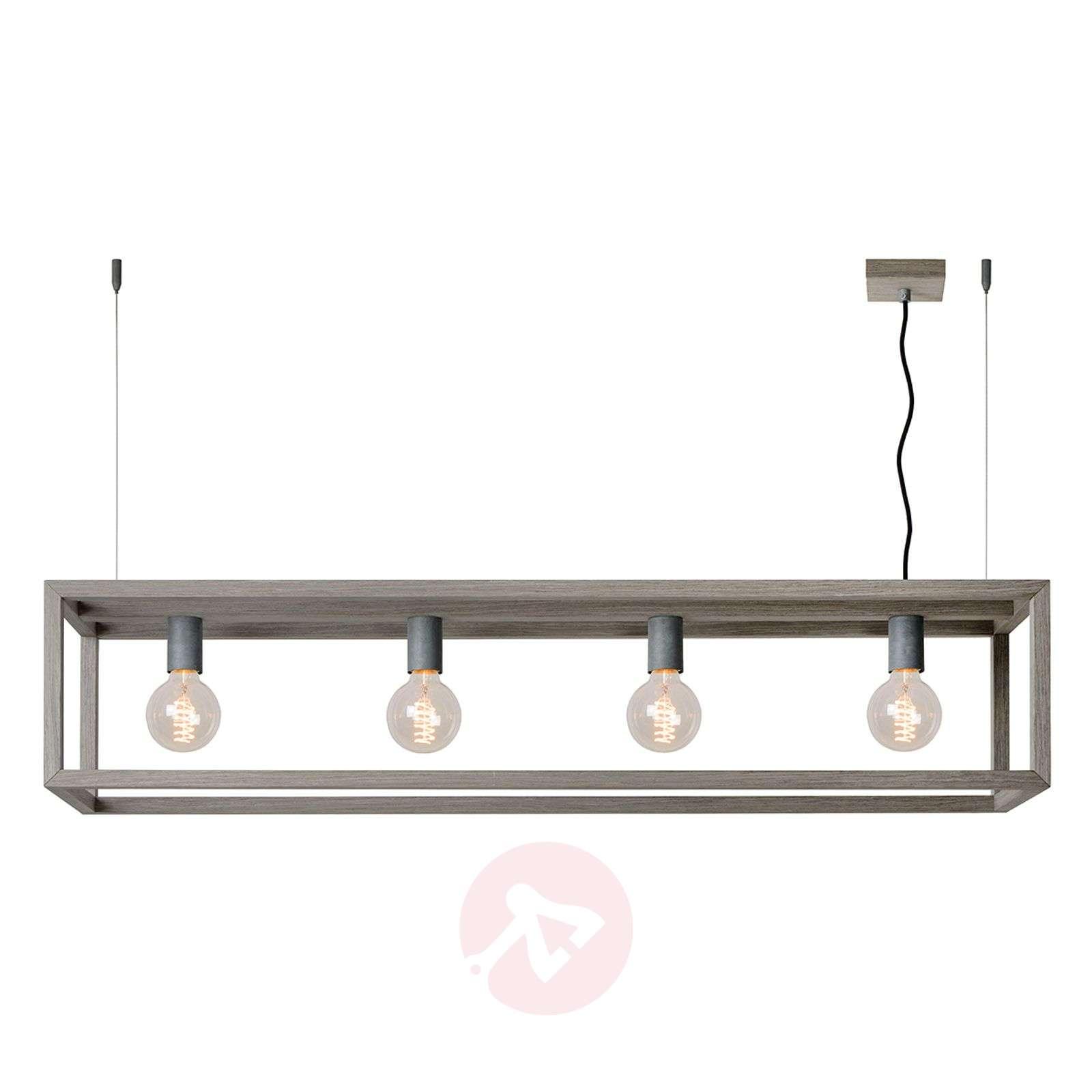 Trendy pendant light Oris with grey wood veneer-6055126-01