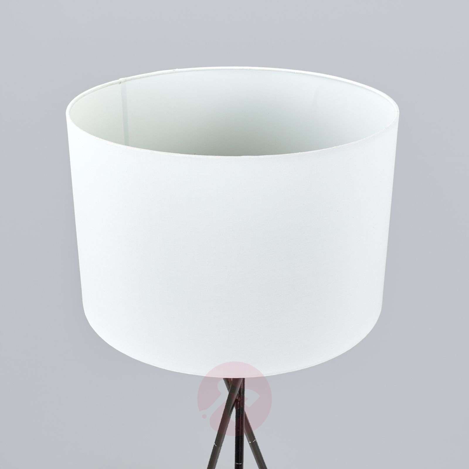Tripod floor lamp Fiby, white fabric lampshade-4018034-02