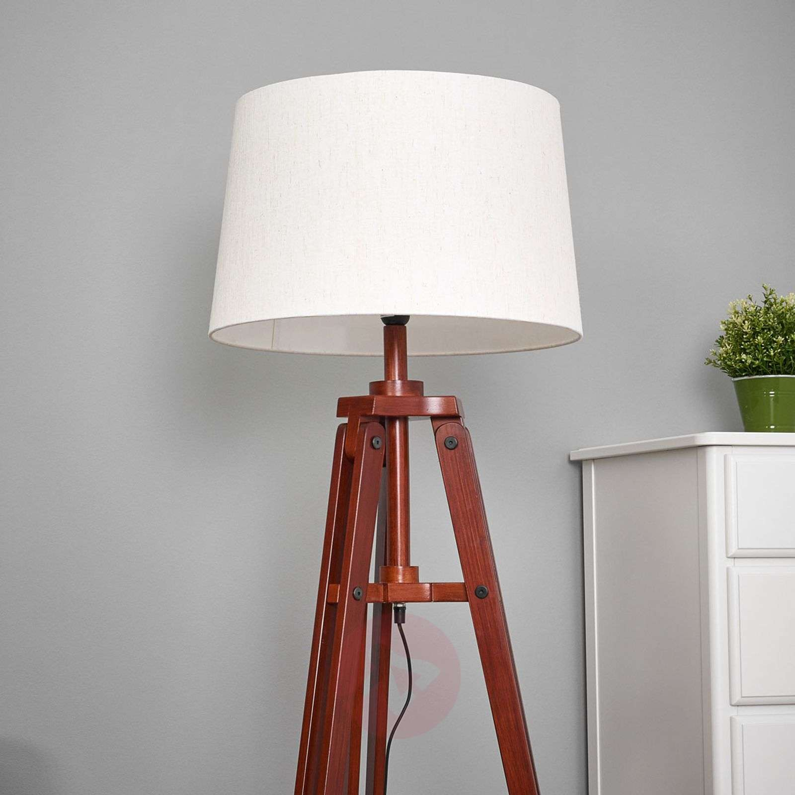 Tripod floor lamp Marvin in wood, height 158 cm-8553066-01
