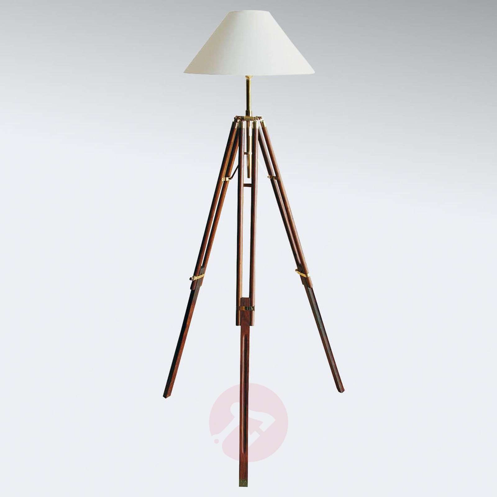 Tripod floor lamp Stativ with white lampshade-8553067-01