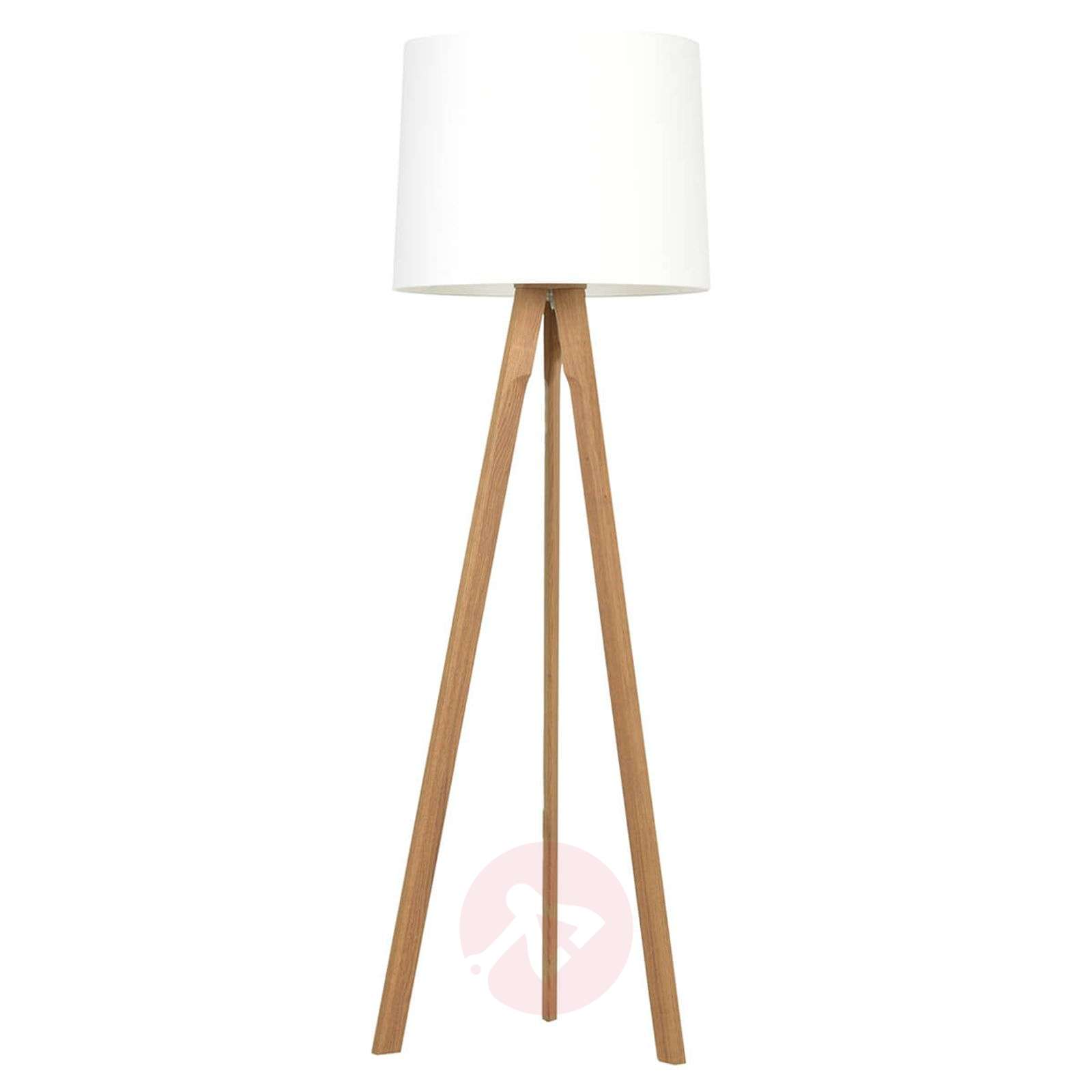 Tripod floor lamp Tre made of solid wood-4543027X-01