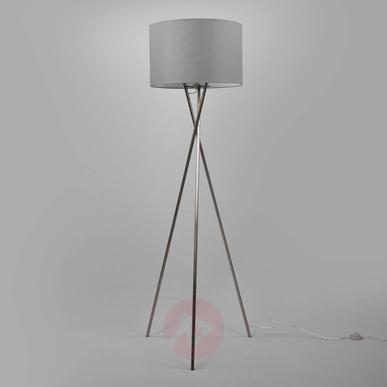 Tripod floor lamp with grey lampshade lights tripod floor lamp with grey lampshade 4018036 02 aloadofball Gallery
